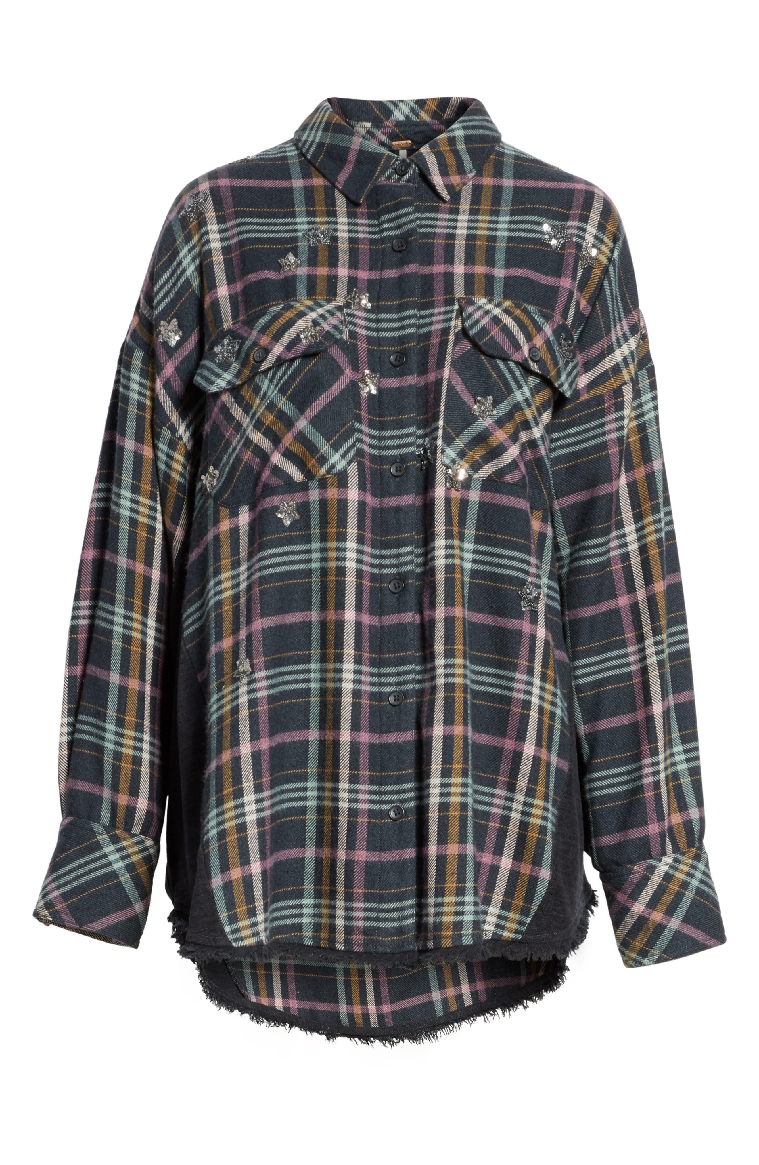 Constellations Tunic Shirt,                             Alternate thumbnail 6, color,                             001