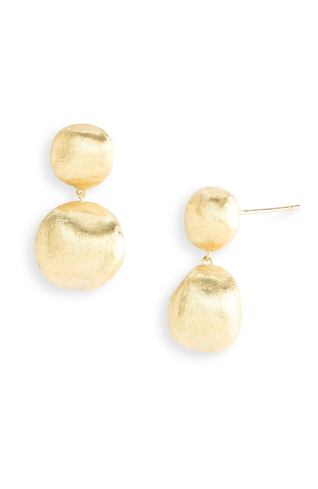 'Africa Gold' Double Drop Earrings,                             Alternate thumbnail 2, color,                             GOLD