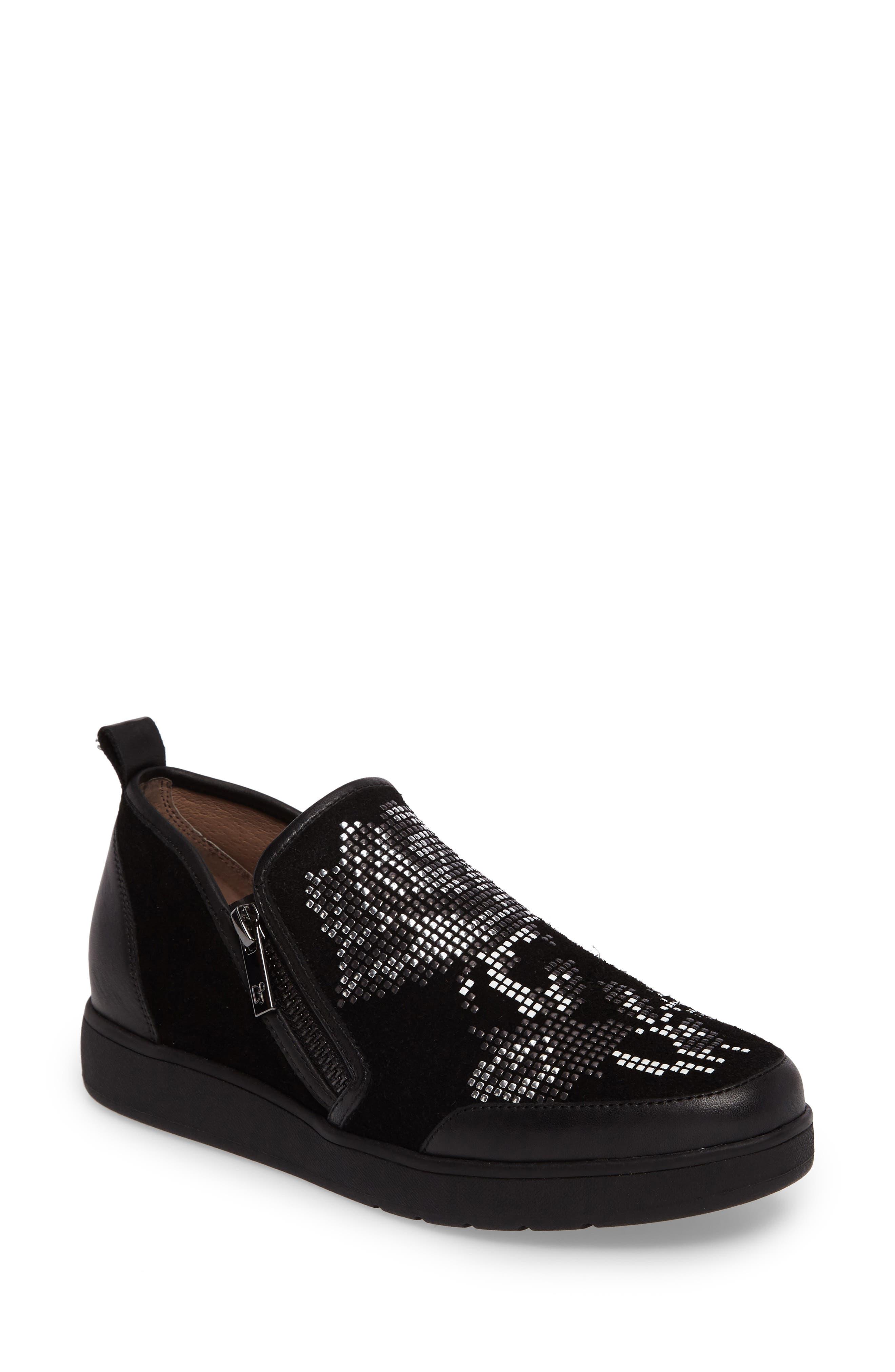 Donald J Pliner Mylasp Embellished Sneaker,                         Main,                         color, 001