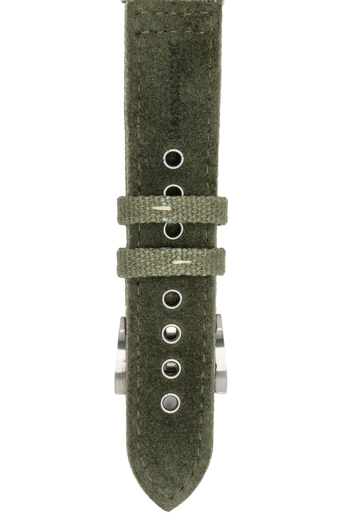 Canvas Watch Strap, 22mm,                             Alternate thumbnail 2, color,                             330