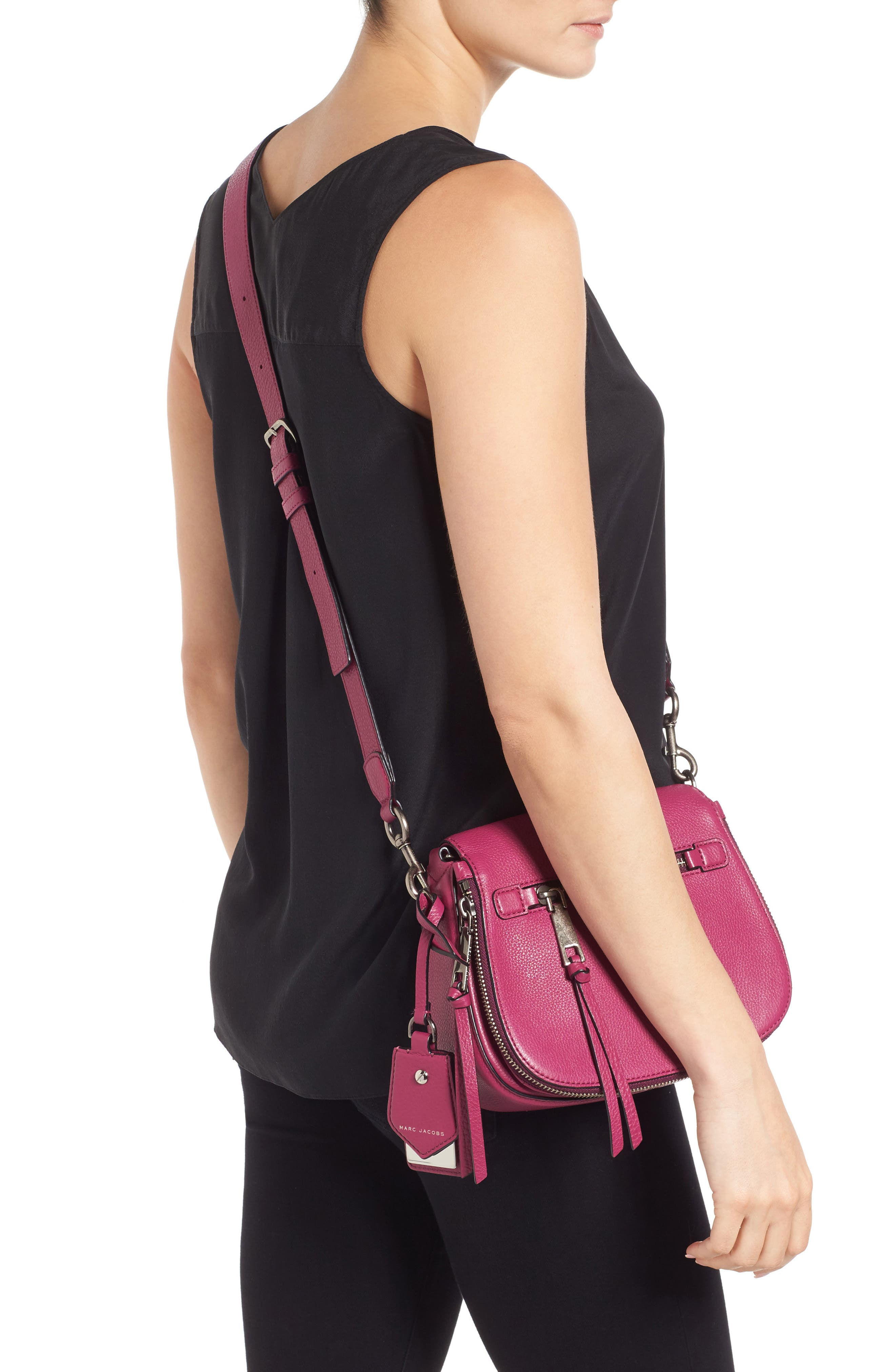 Small Recruit Nomad Pebbled Leather Crossbody Bag,                             Alternate thumbnail 41, color,
