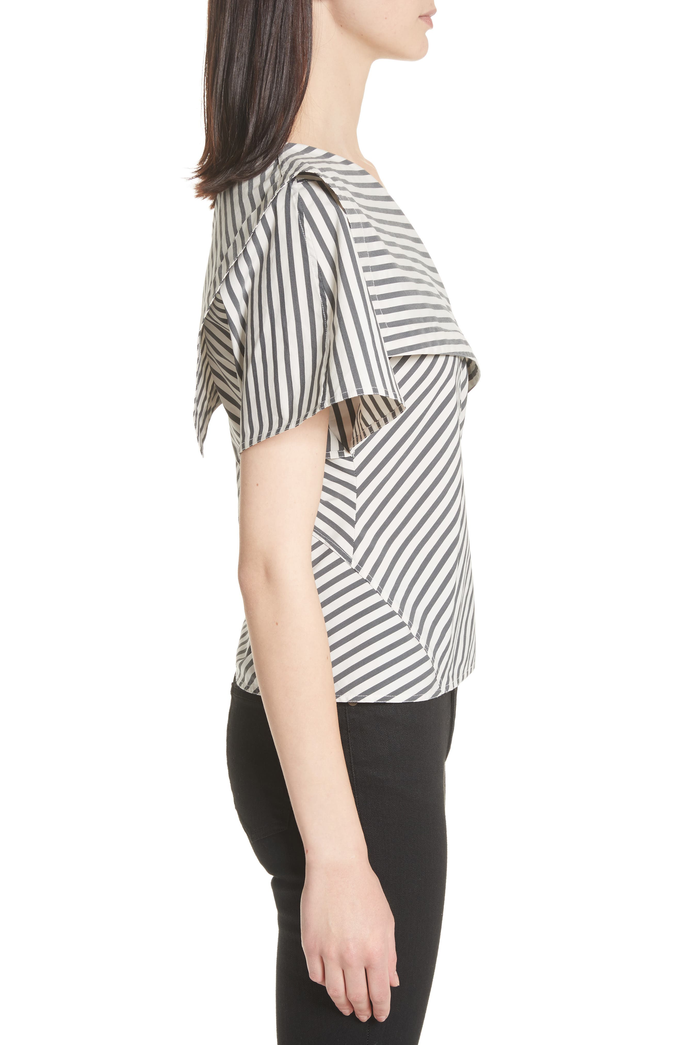 Brys Stripe Foldover Top,                             Alternate thumbnail 3, color,                             002