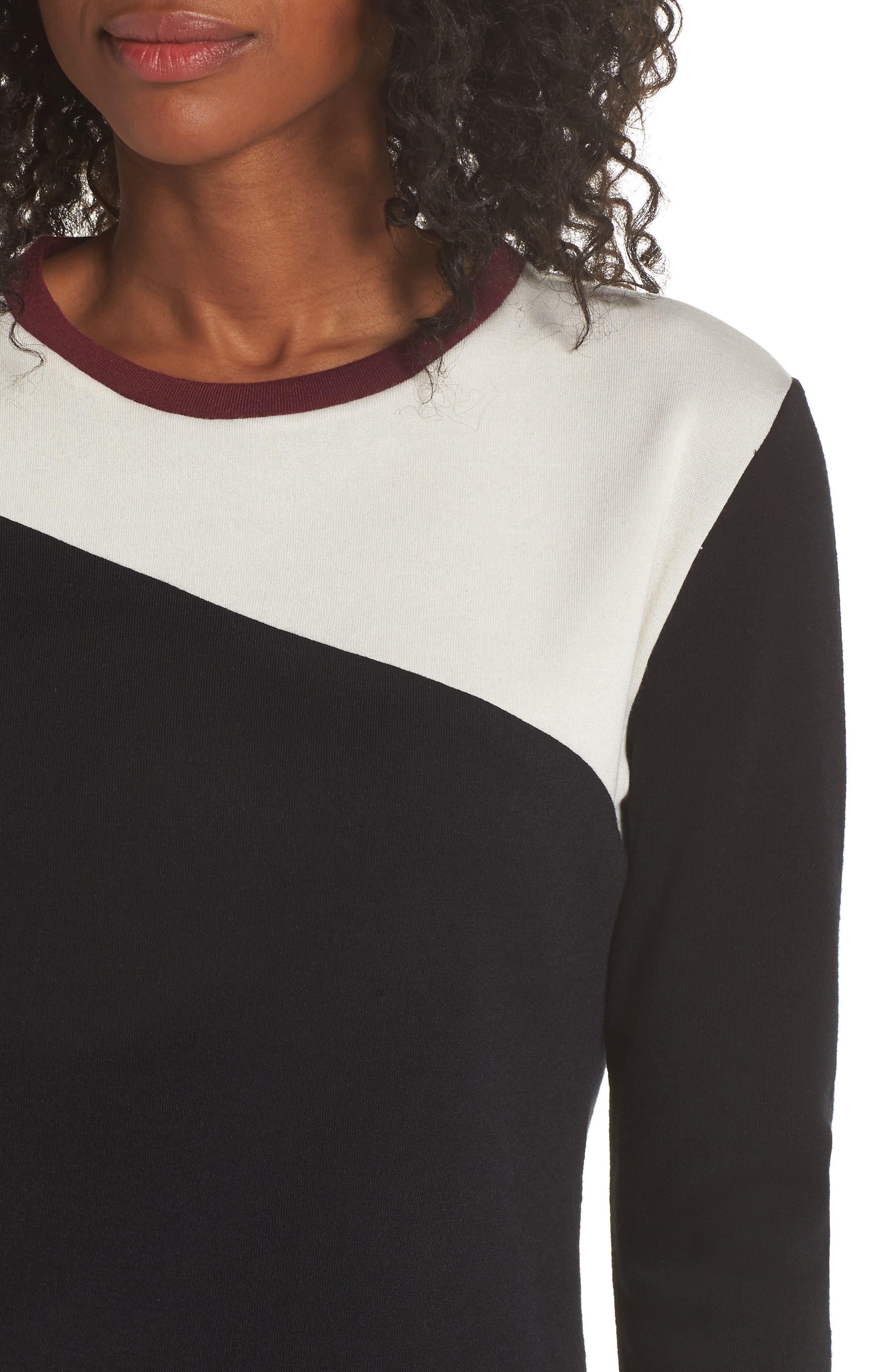 Fleece Cozy Lounger Pajamas,                             Alternate thumbnail 4, color,                             BLACK