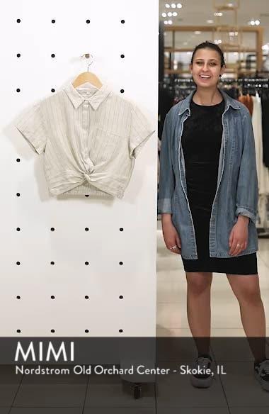 Linen Twist Hem Crop Top, sales video thumbnail