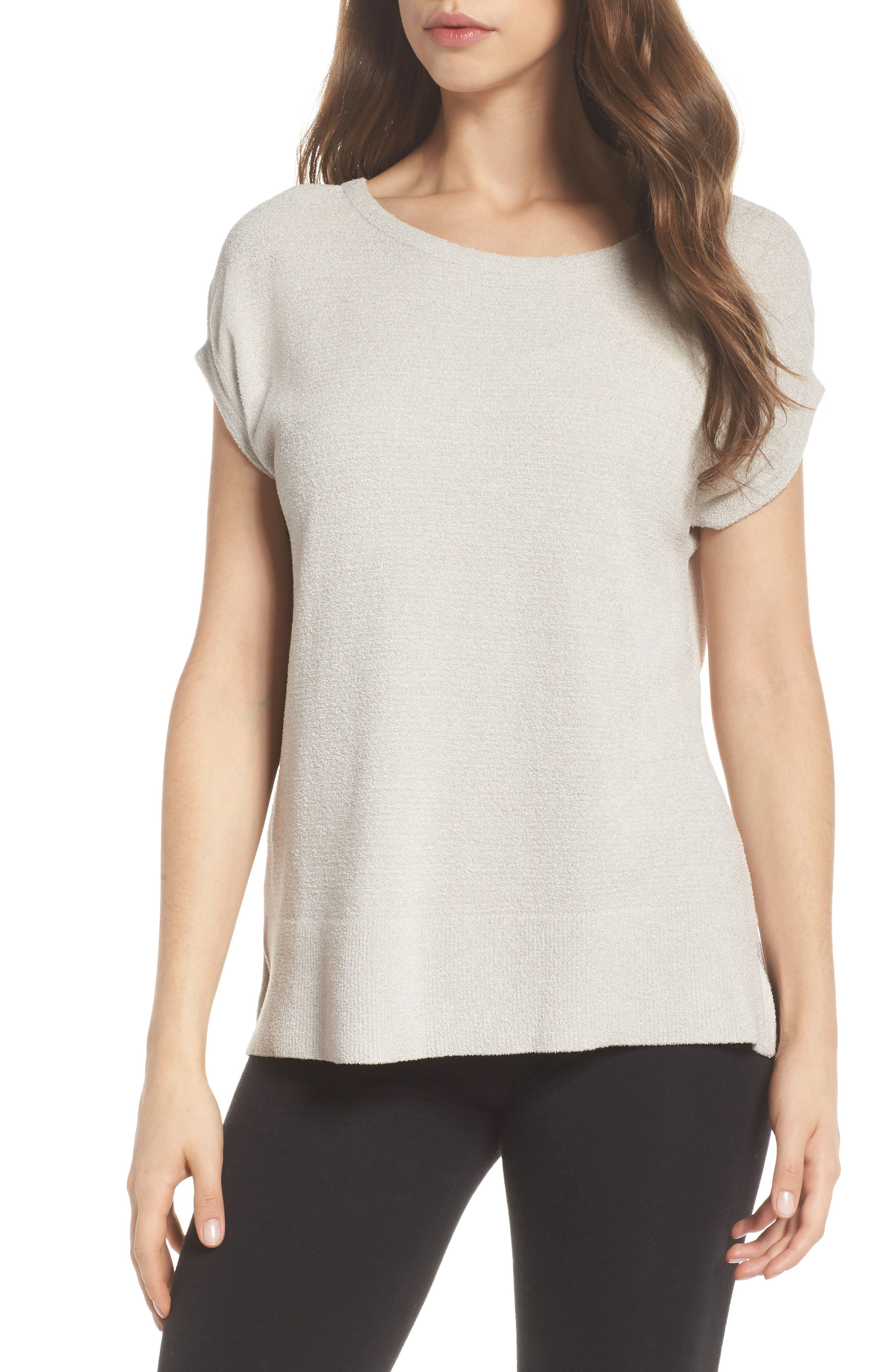 CozyChic Ultra Lite<sup>®</sup> Lounge Tee,                             Main thumbnail 1, color,                             FOG GRAY
