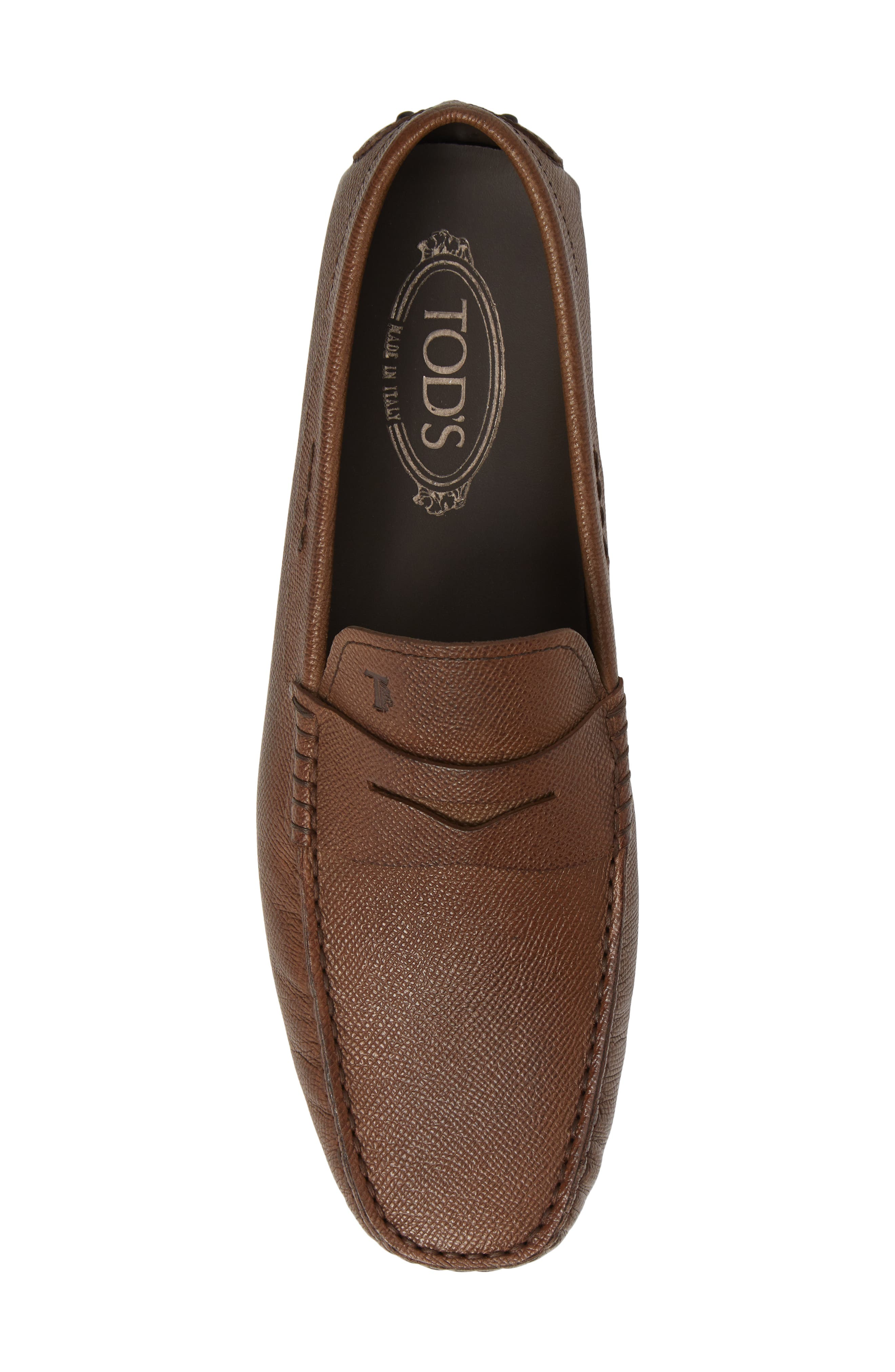 TOD'S,                             'City' Penny Driving Shoe,                             Alternate thumbnail 5, color,                             BROWN
