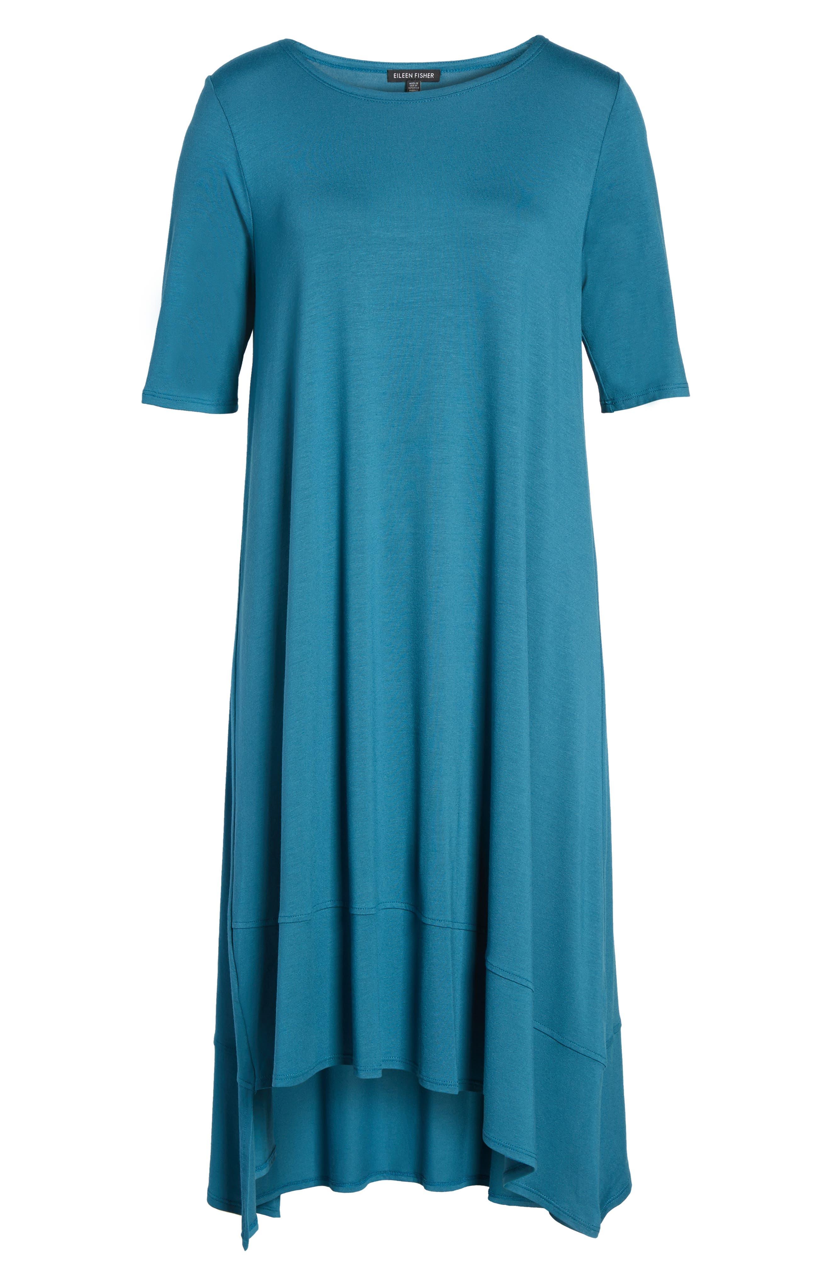 Jersey Asymmetrical A-Line Dress,                             Alternate thumbnail 28, color,