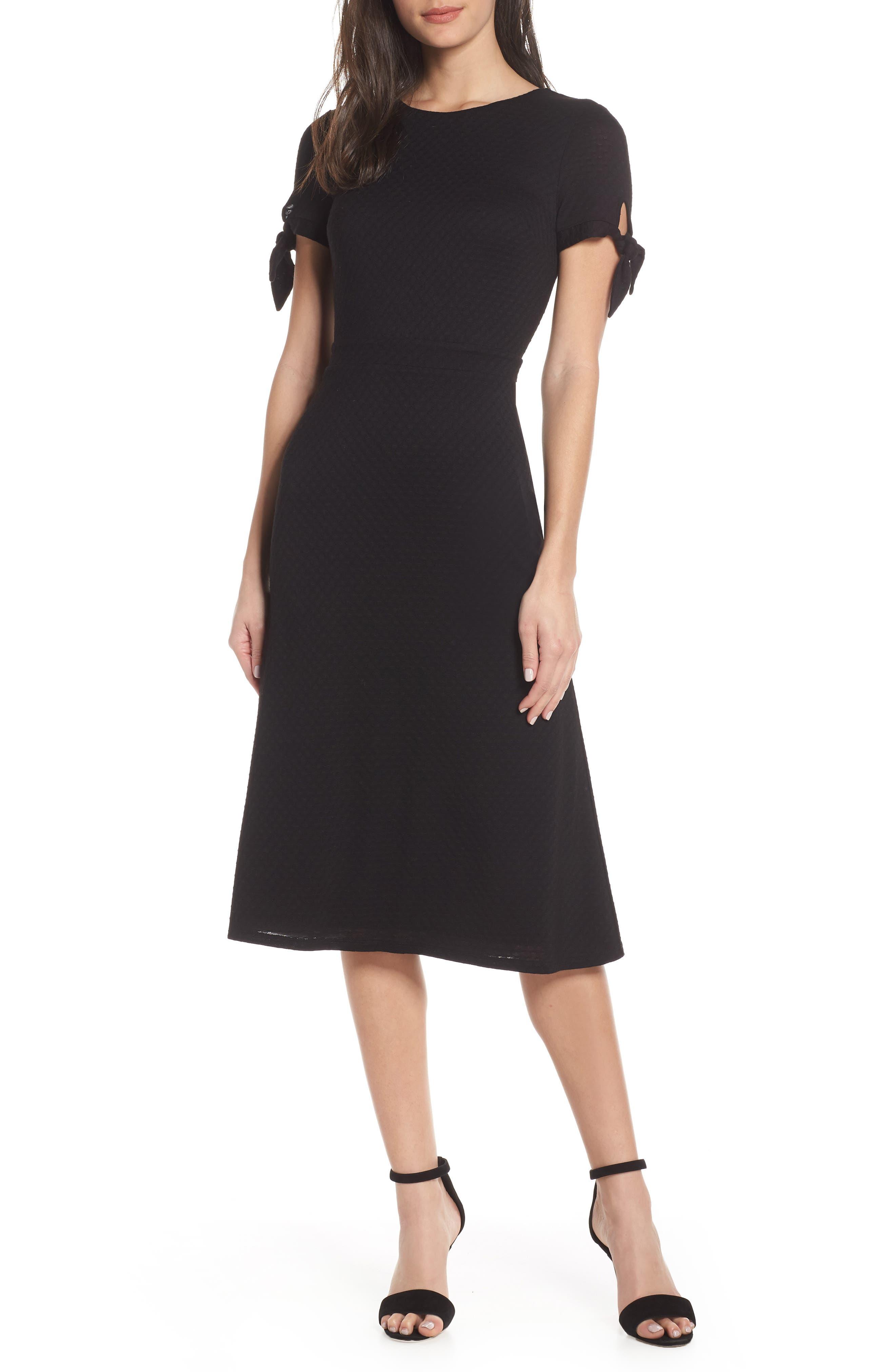 Ali & Jay Bunker Hill Textured Midi Dress, Black