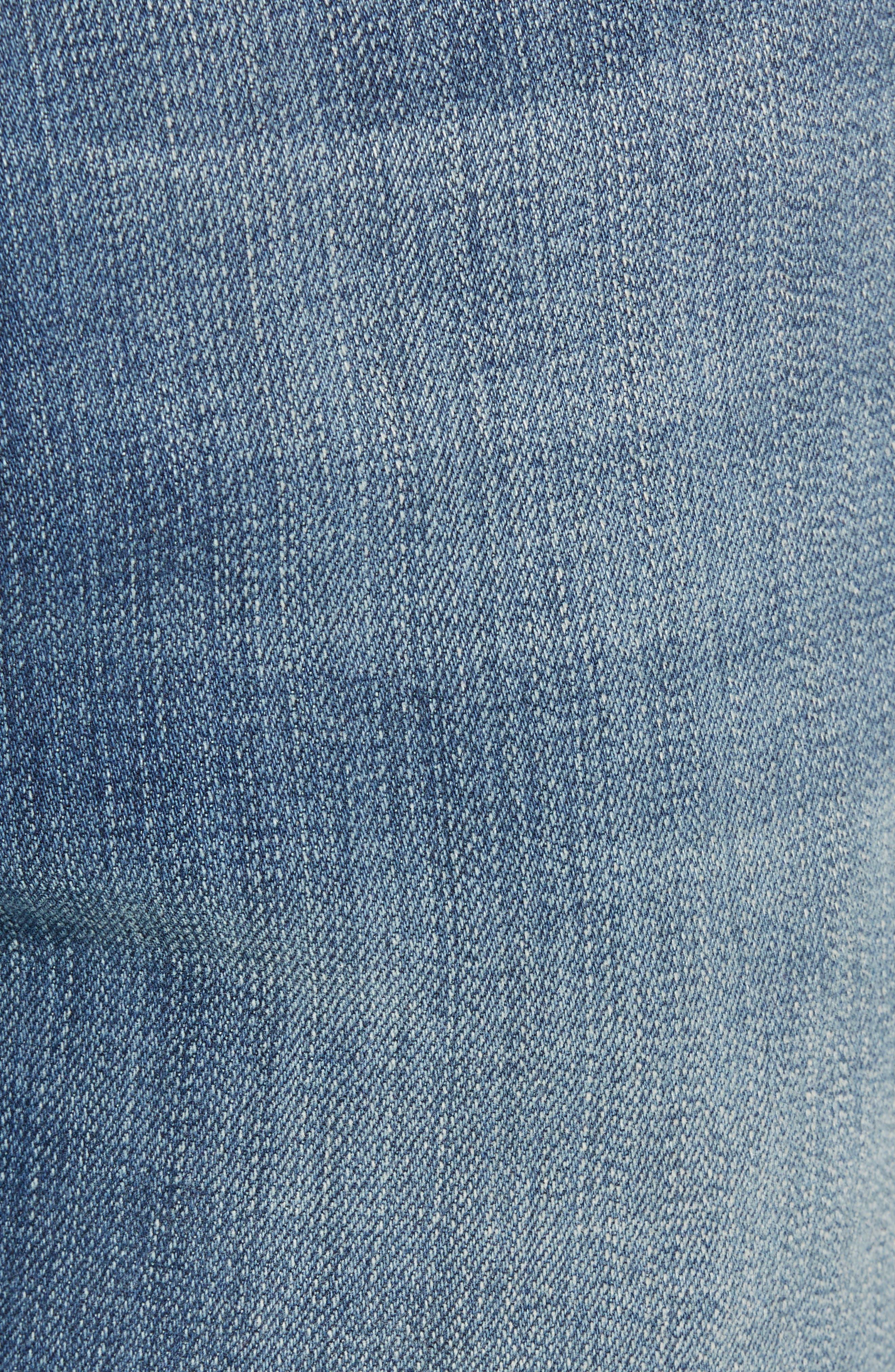 Jimmy Slim Straight Leg Jeans,                             Alternate thumbnail 5, color,                             SYNDICATE BLUE