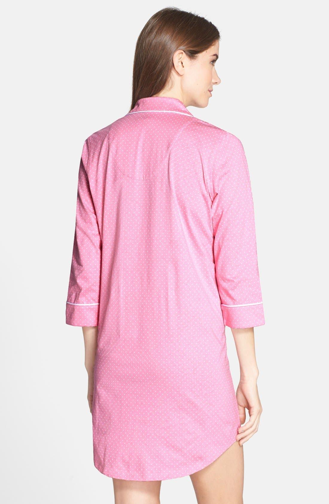 Jersey Sleep Shirt,                             Alternate thumbnail 16, color,