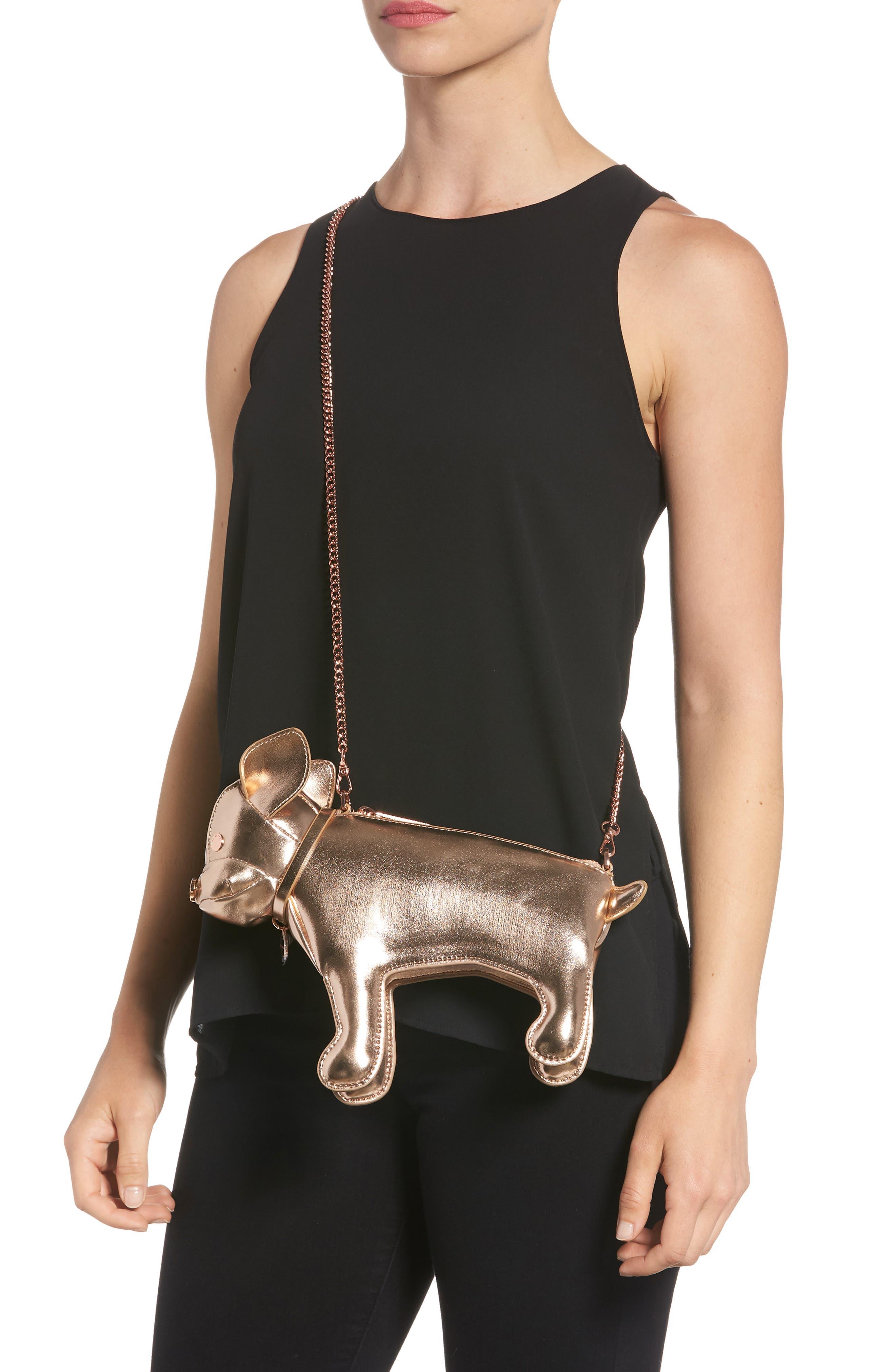 Boston Terrier Crossbody Bag,                             Alternate thumbnail 4, color,