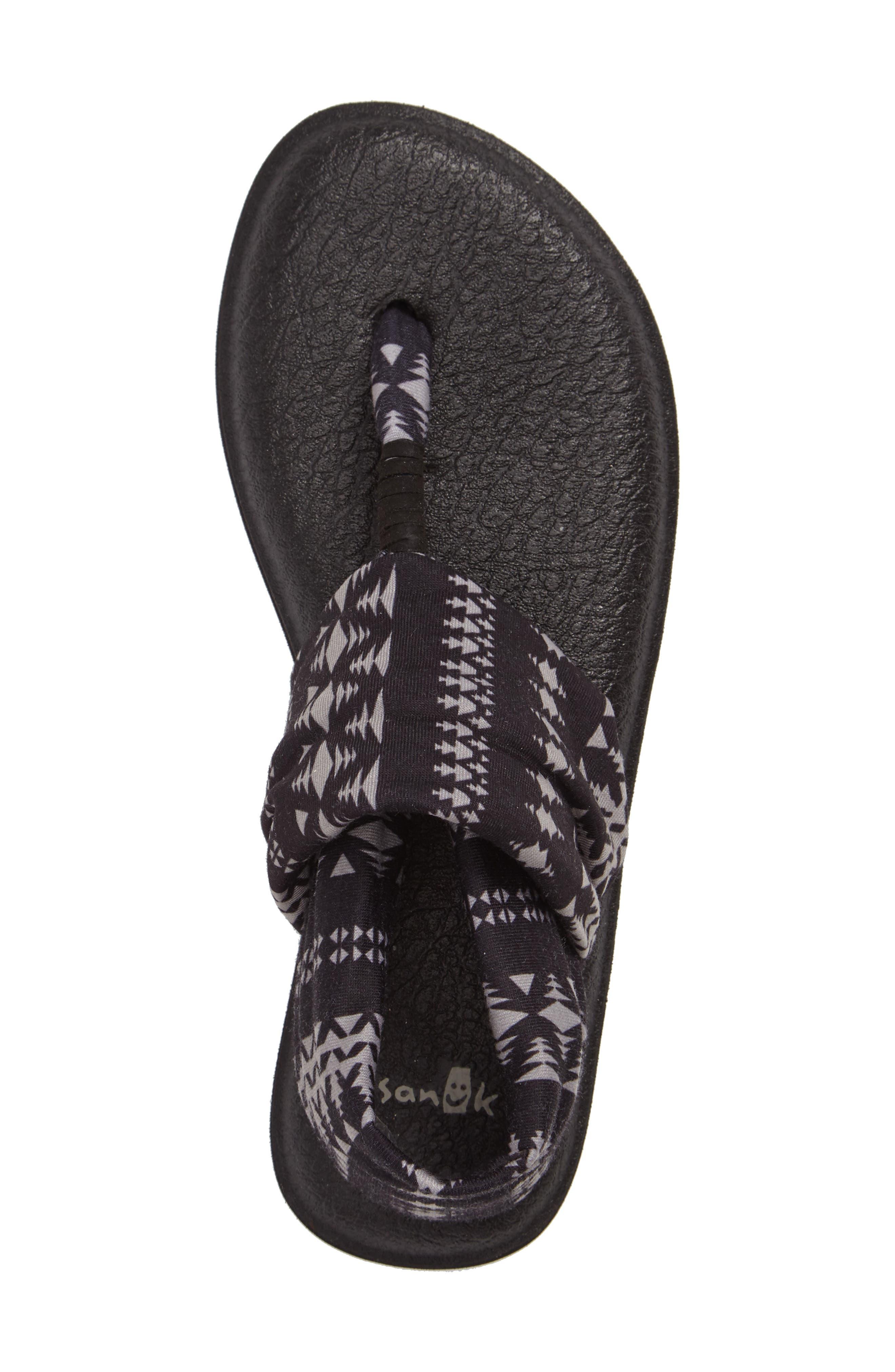 'Yoga Sling 2' Sandal,                             Alternate thumbnail 3, color,                             BLACK TRIBAL