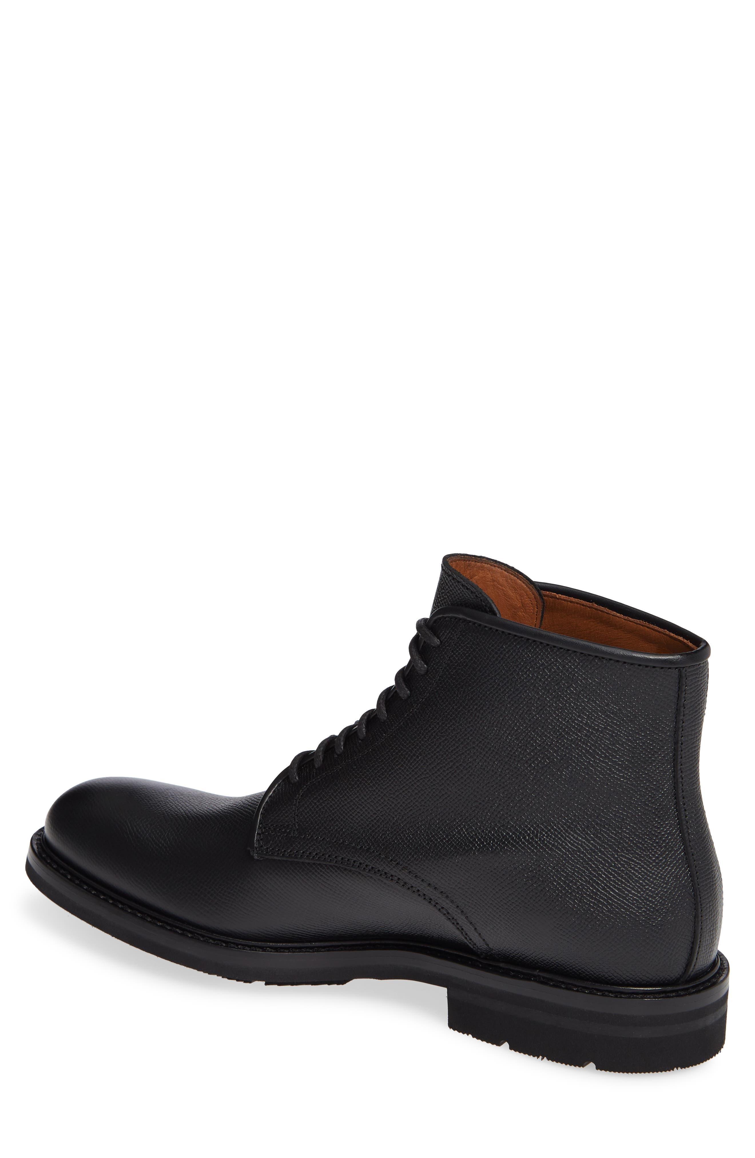 Renzo Weatherproof Plain Toe Waterproof Boot,                             Alternate thumbnail 2, color,                             BLACK