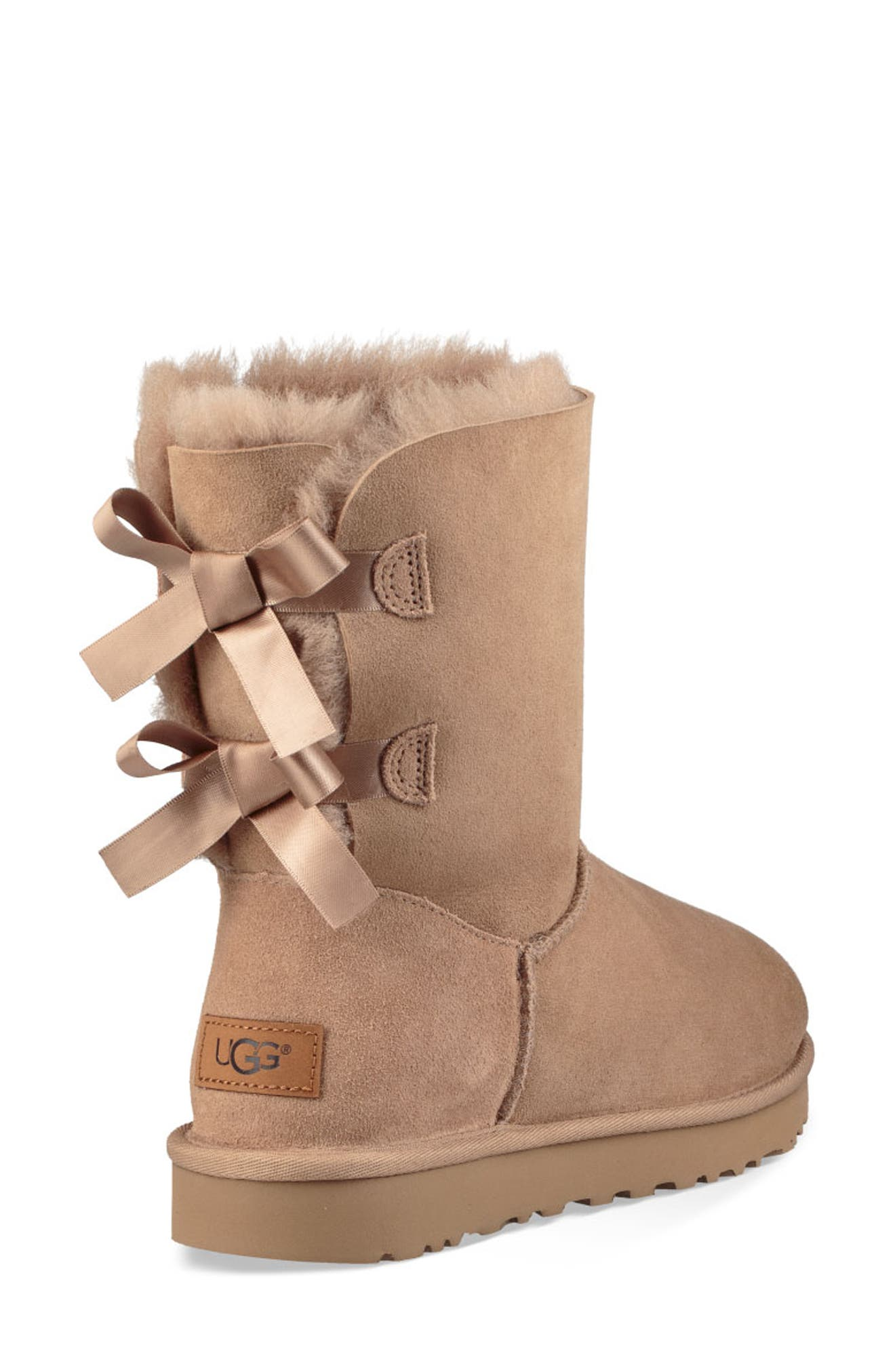 'Bailey Bow II' Boot,                             Alternate thumbnail 2, color,                             FAWN