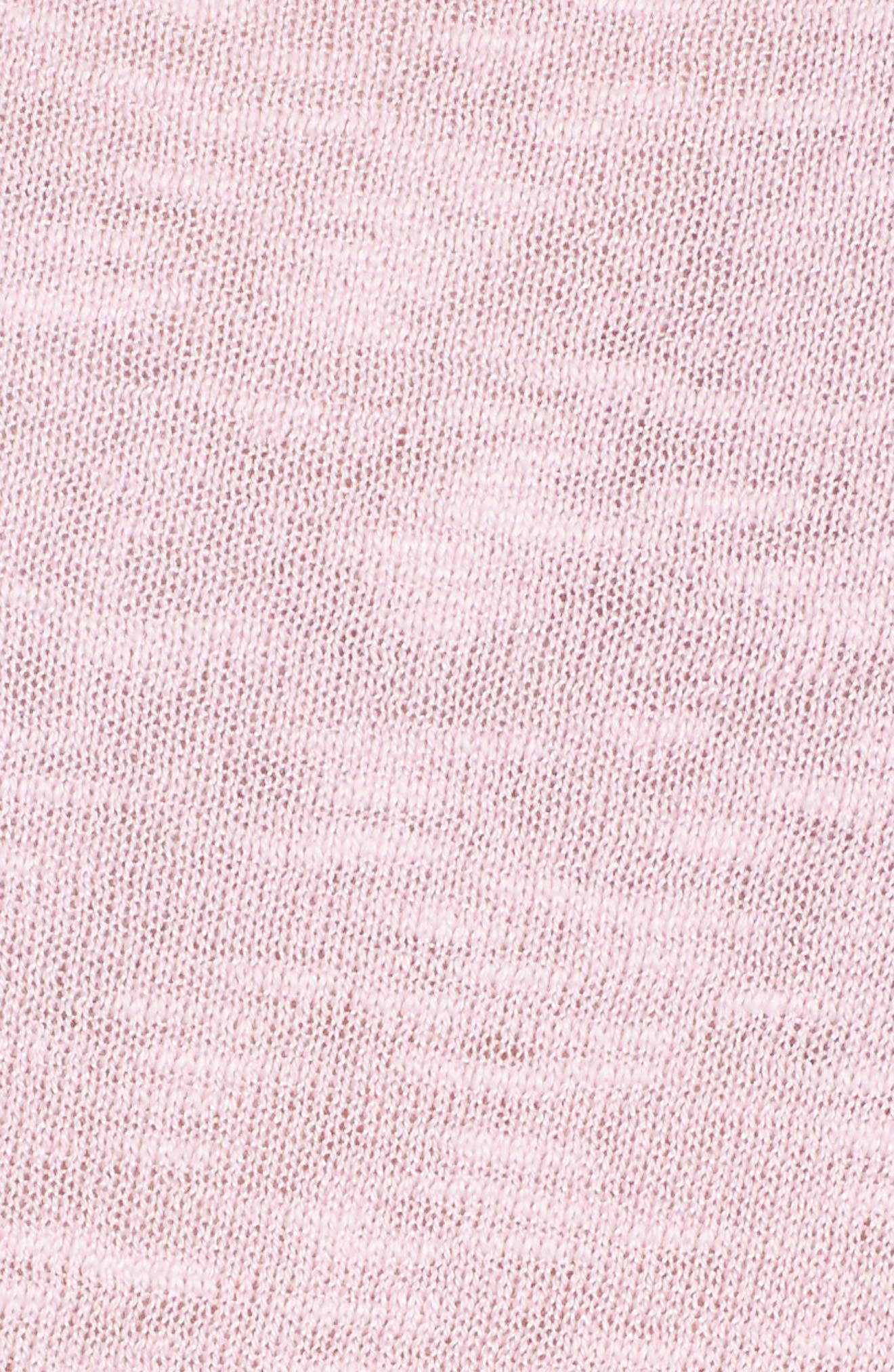 Cap Sleeve Organic Linen & Cotton Scoop Neck Top,                             Alternate thumbnail 70, color,