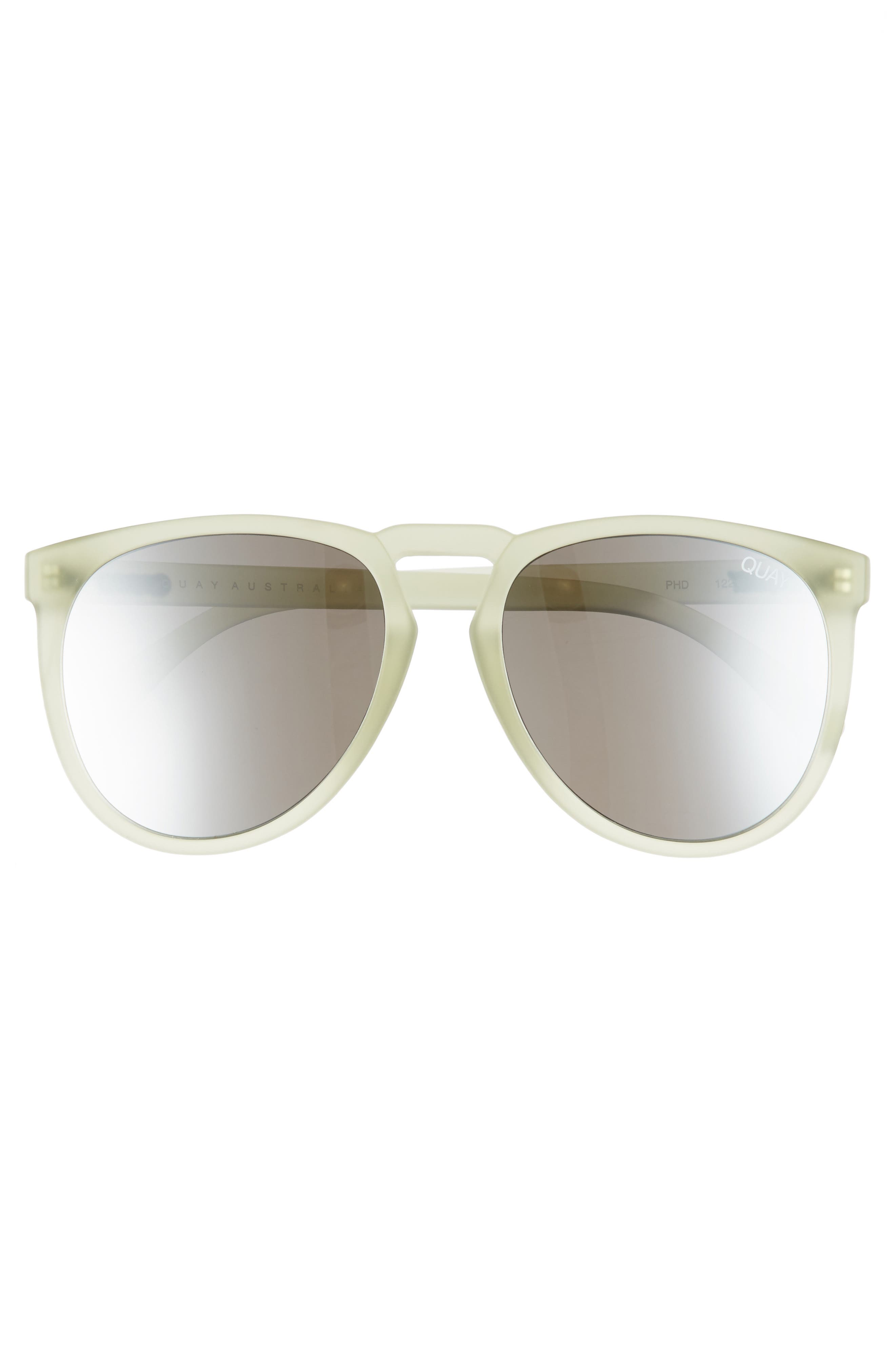 PhD 65mm Sunglasses,                             Alternate thumbnail 2, color,                             OLIVE/ SILVER