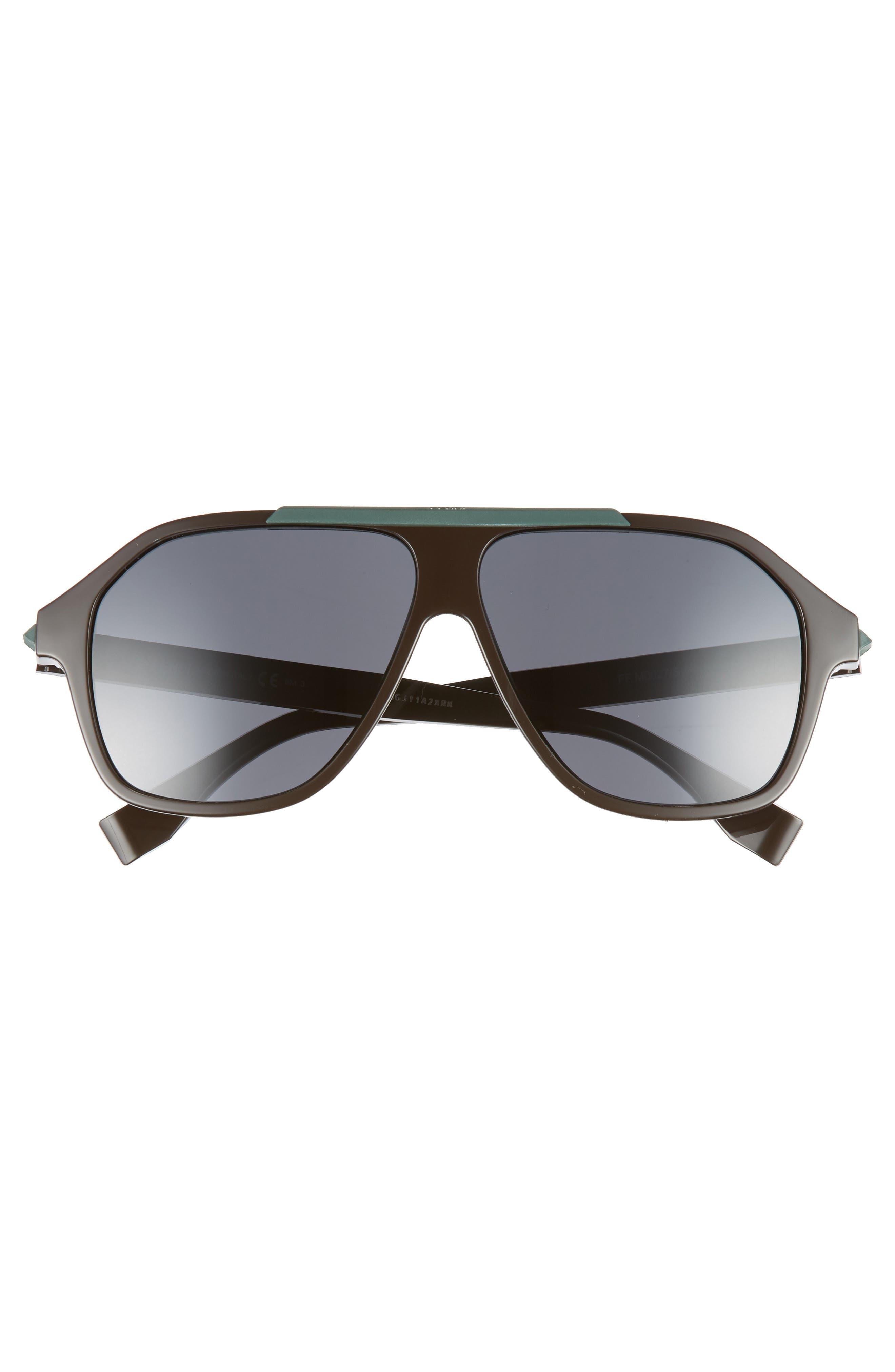 59mm Navigator Sunglasses,                             Alternate thumbnail 2, color,                             BROWN