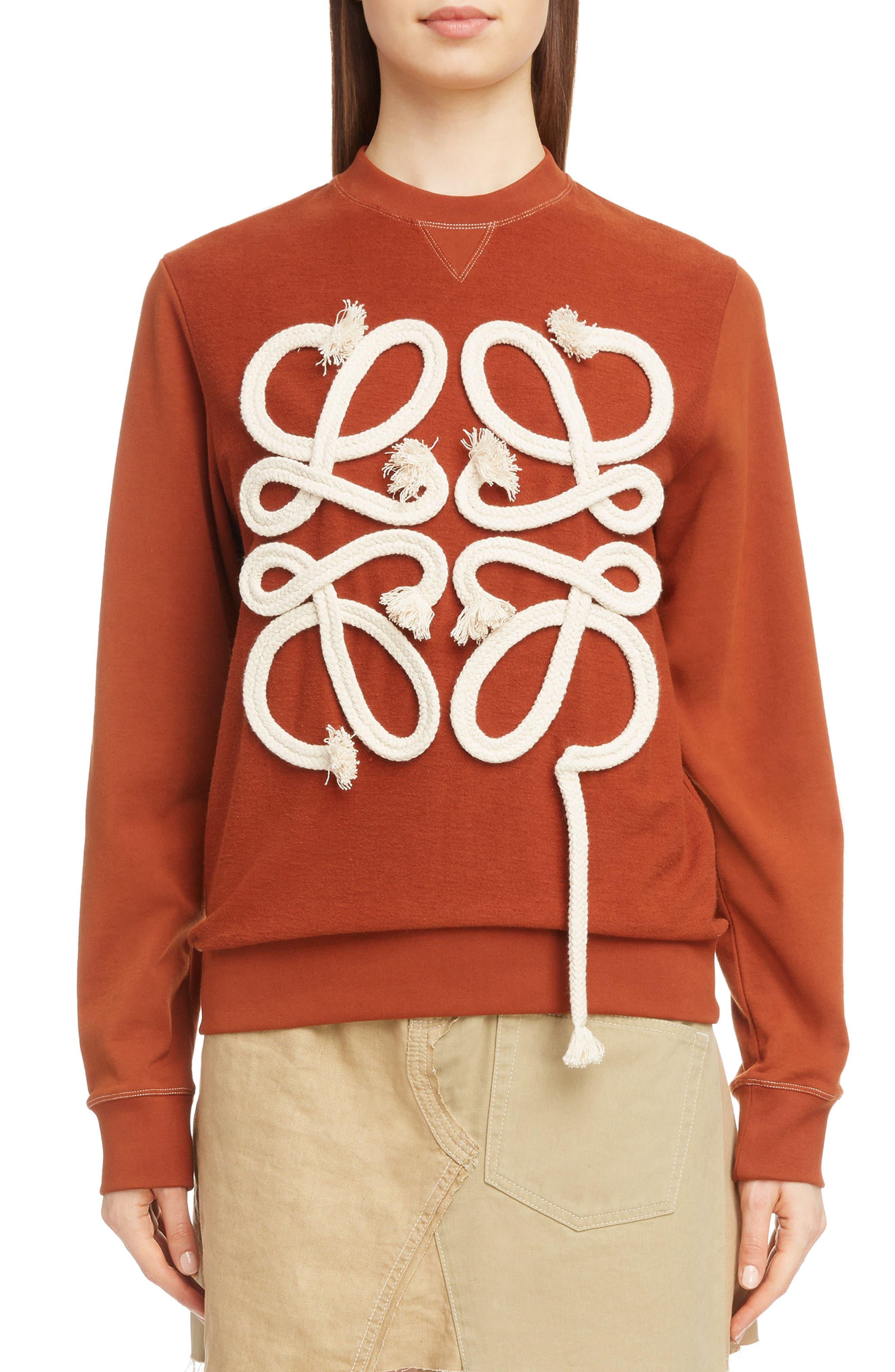 Rope Logo Sweatshirt,                             Main thumbnail 1, color,                             871