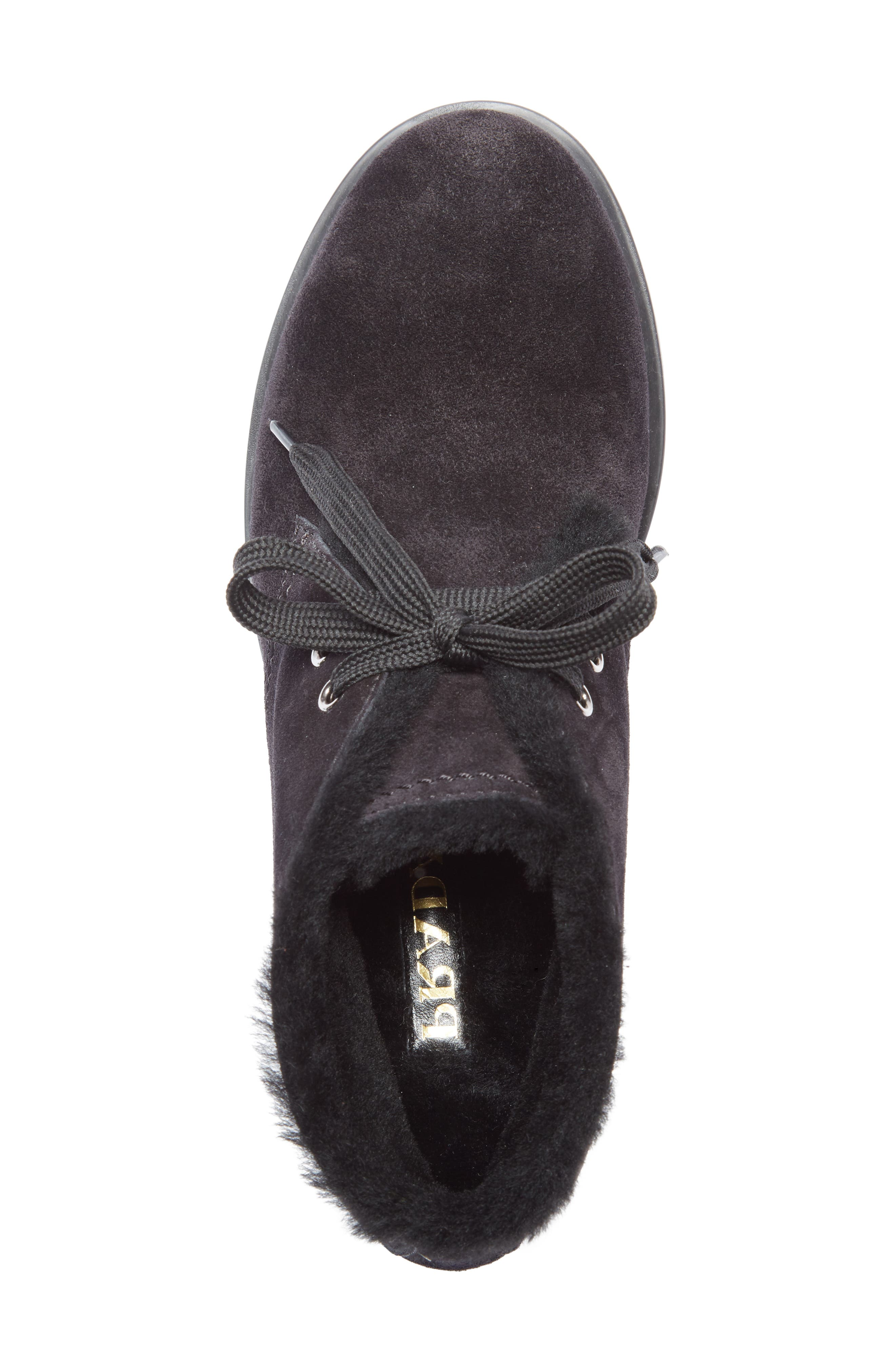 Genuine Shearling Lined Bootie,                             Alternate thumbnail 4, color,                             001