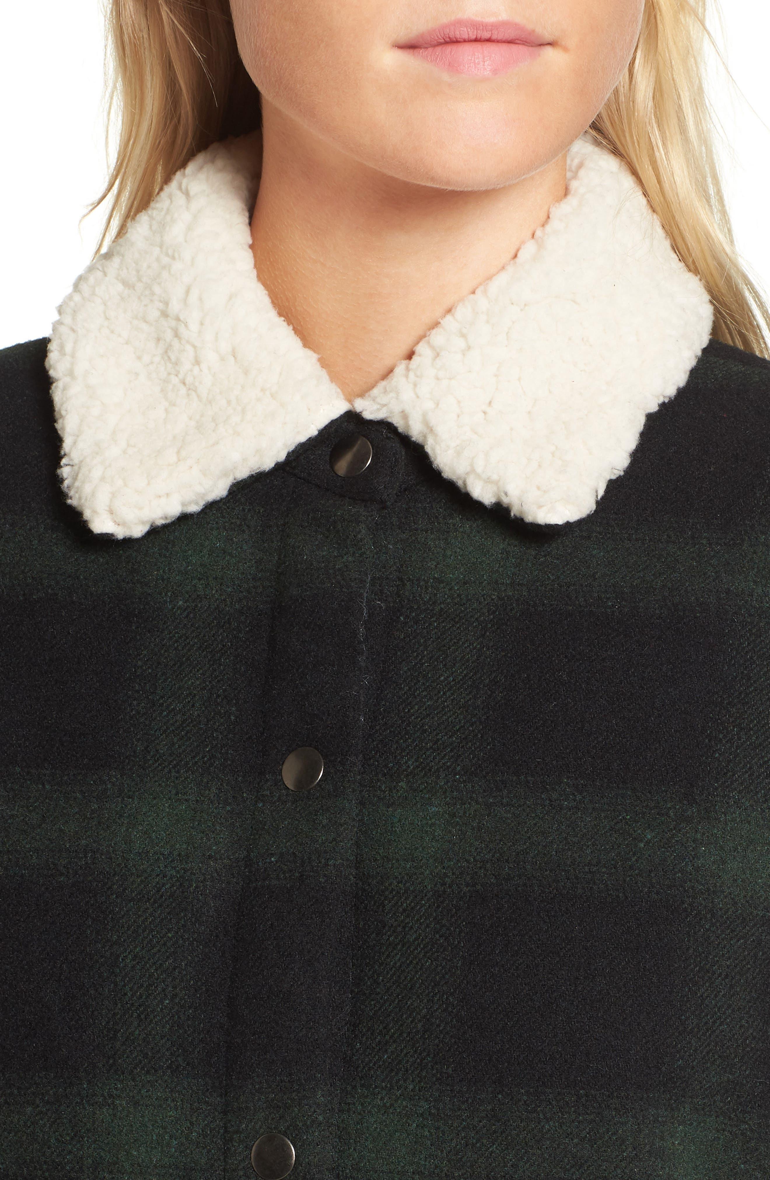 Bradley Fleece Lined Plaid Coat,                             Alternate thumbnail 4, color,                             301