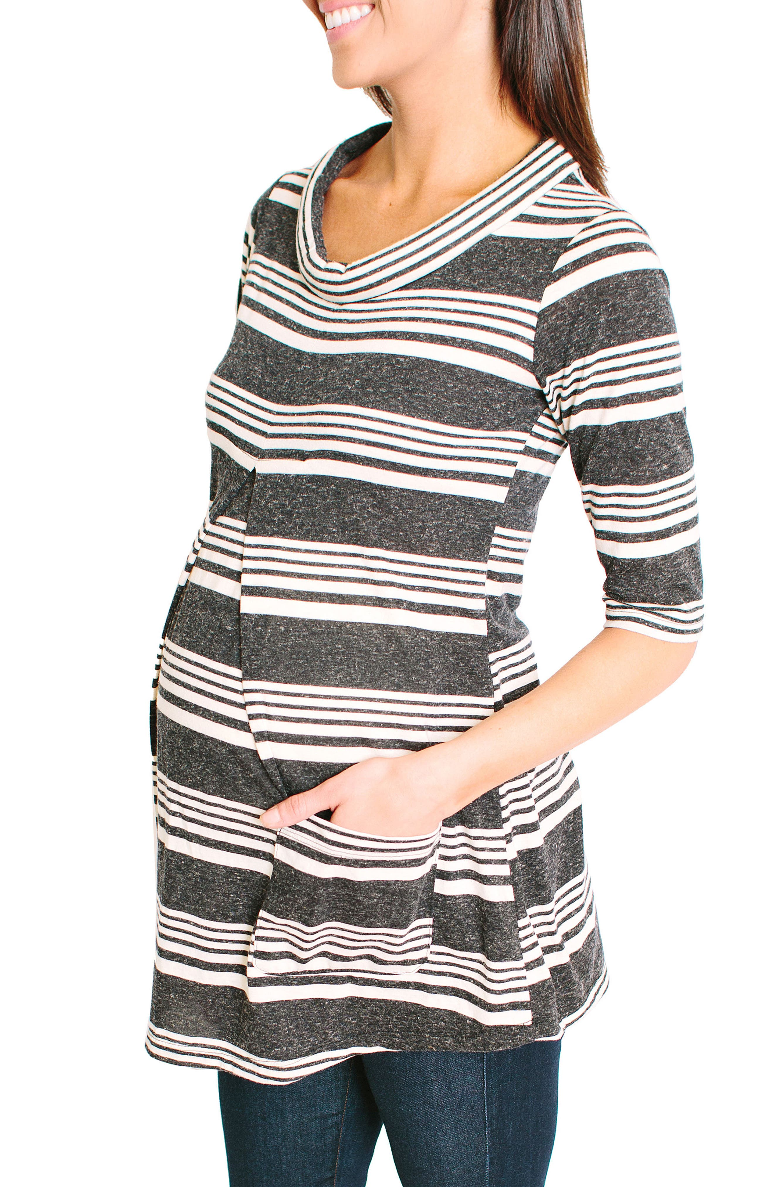 NOM MATERNITY,                             Clio Maternity Top,                             Alternate thumbnail 3, color,                             020