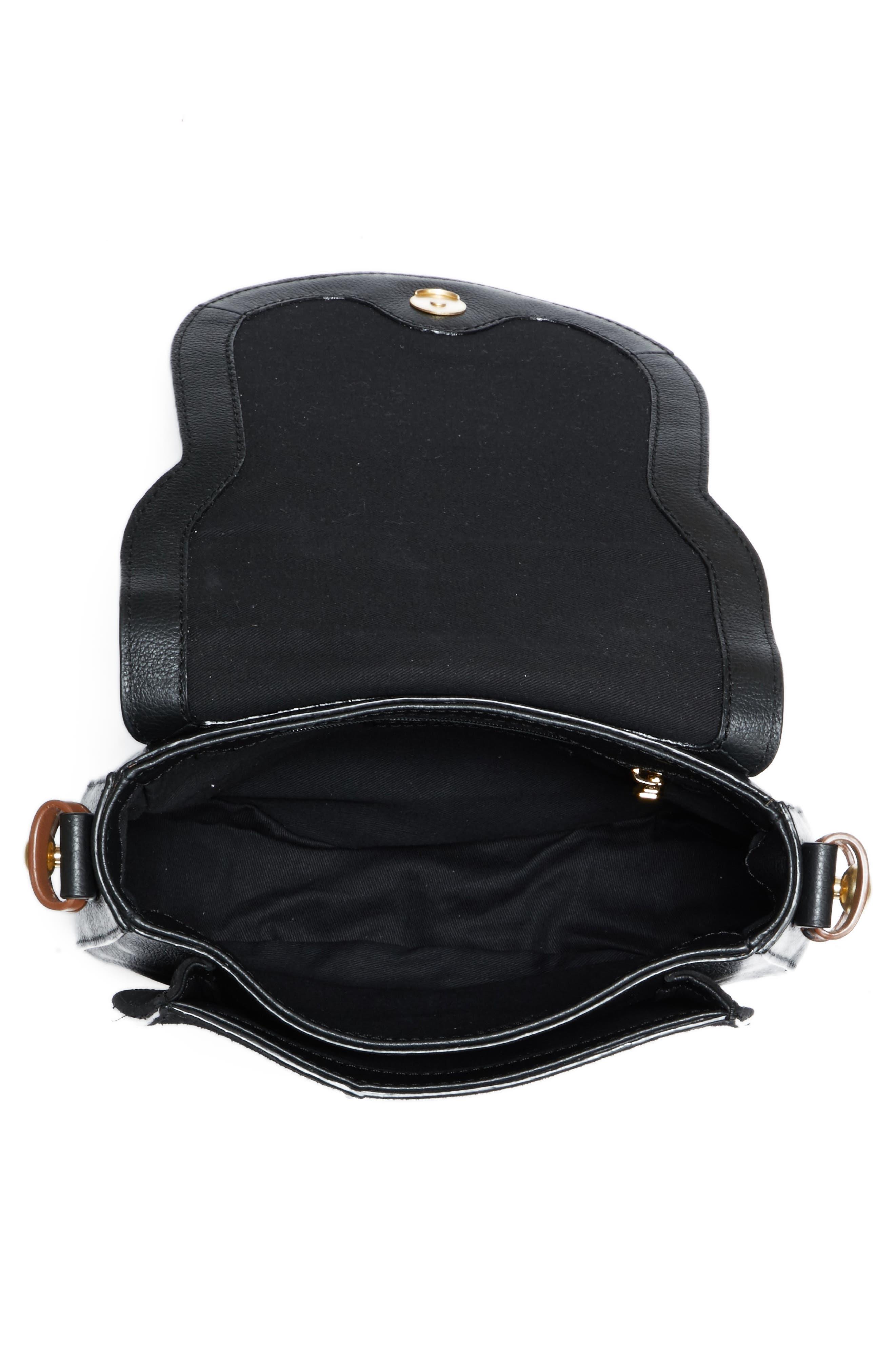 Small Lumir Leather Crossbody Bag,                             Alternate thumbnail 4, color,                             001