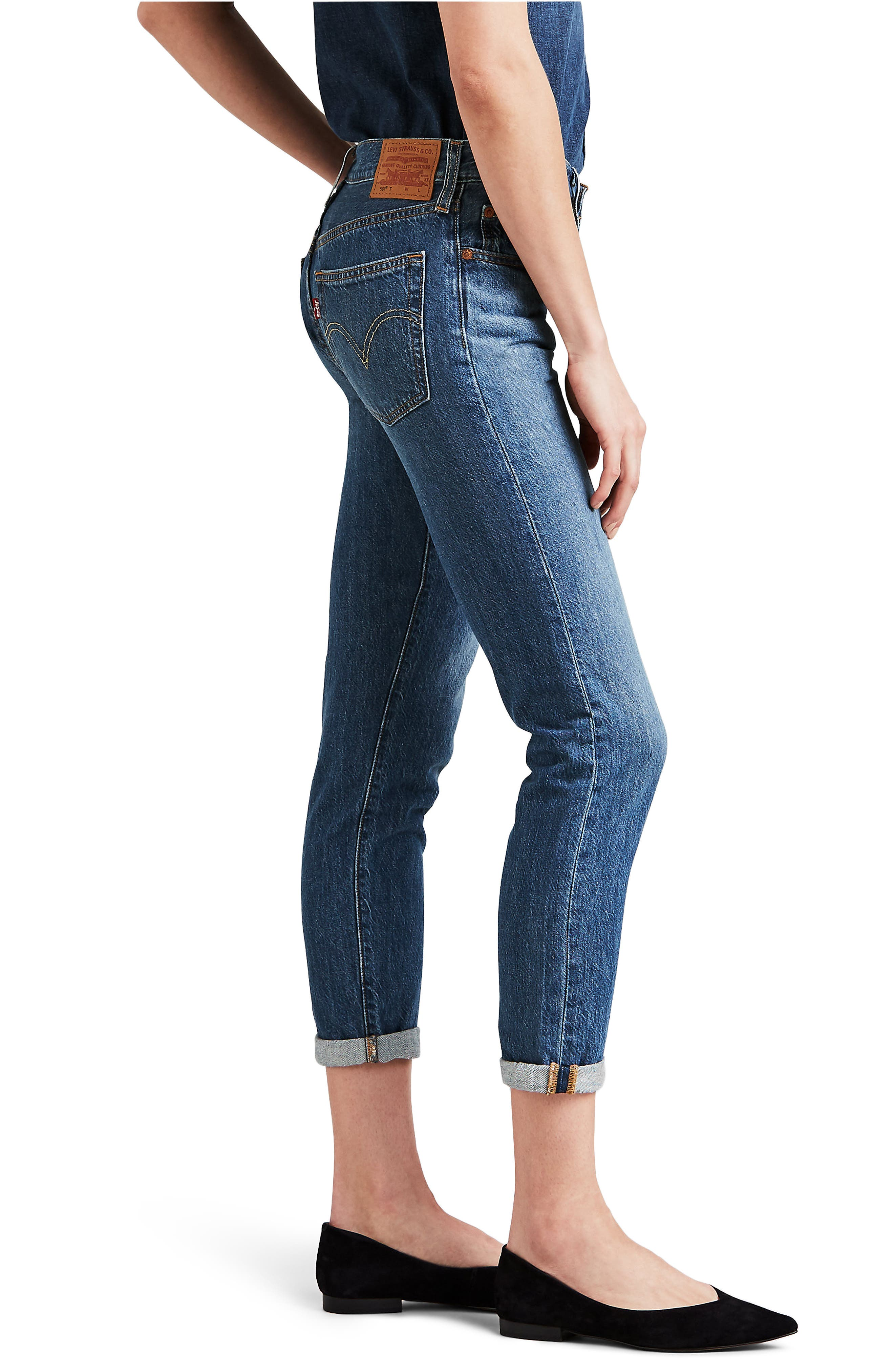 501<sup>®</sup> Ankle Taper Jeans,                             Alternate thumbnail 3, color,                             FOREVER YOUR GIRL