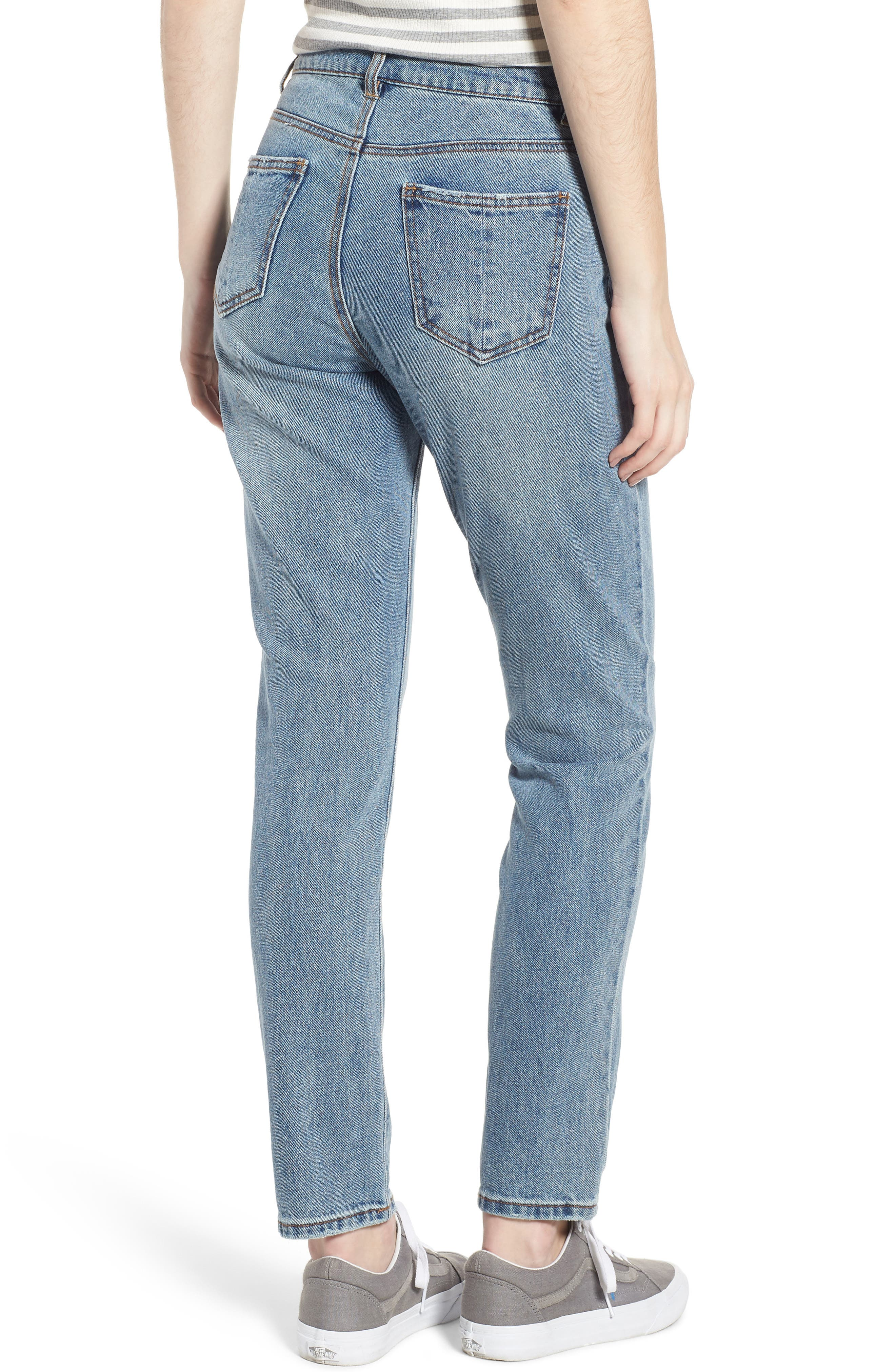 High Waist Skinny Jeans,                             Alternate thumbnail 2, color,                             468