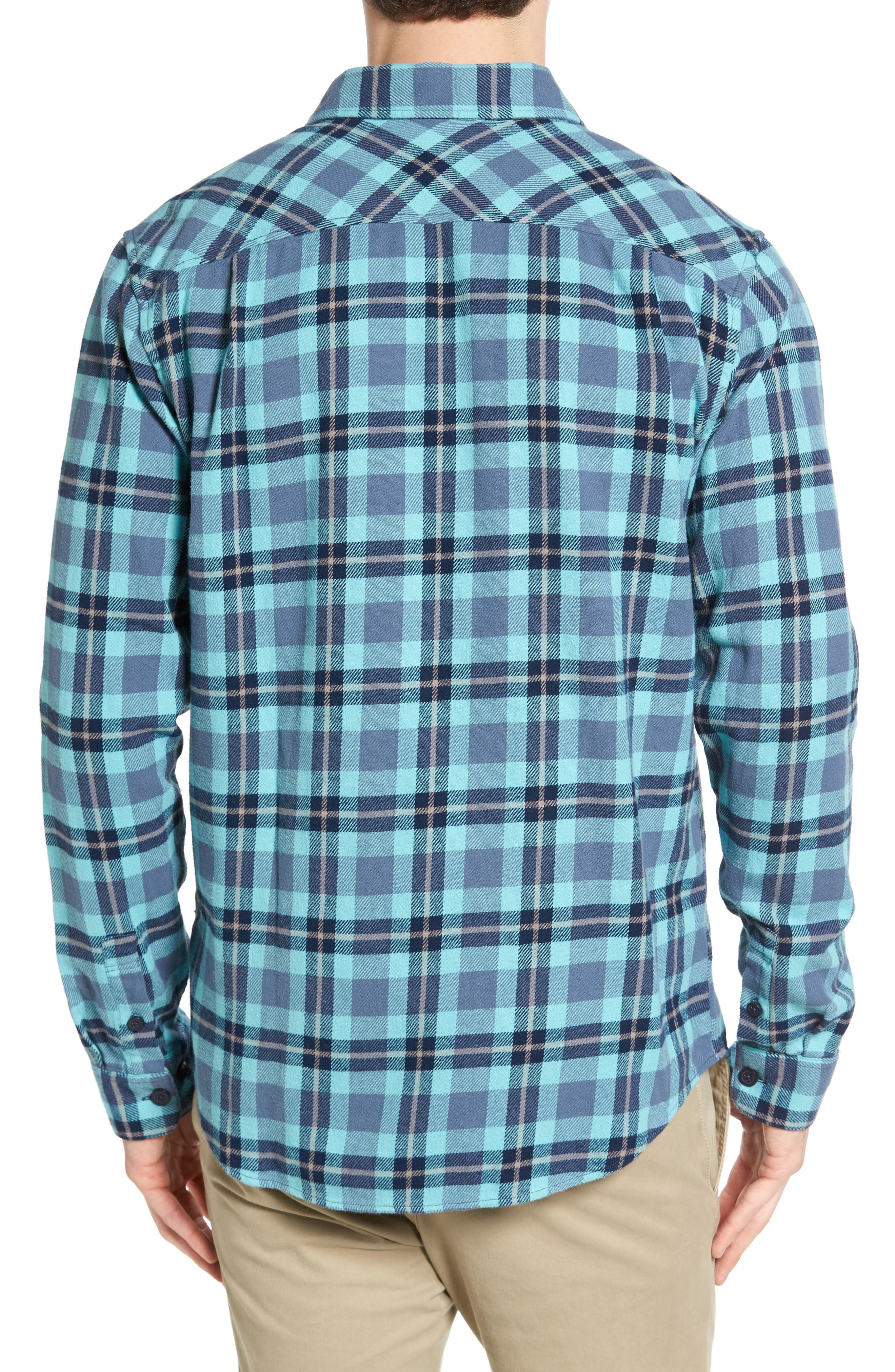 'That'll Work' Trim Fit Plaid Flannel Shirt,                             Alternate thumbnail 12, color,