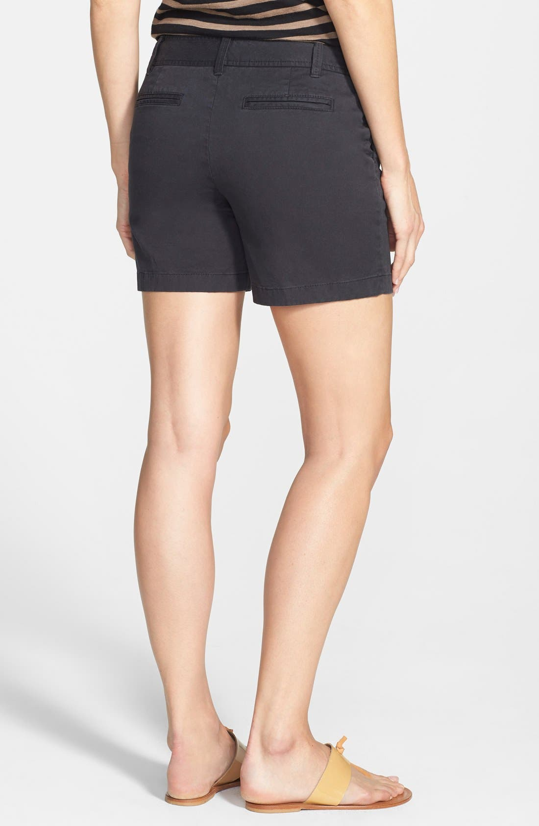 Clean Front Shorts,                             Alternate thumbnail 3, color,                             001