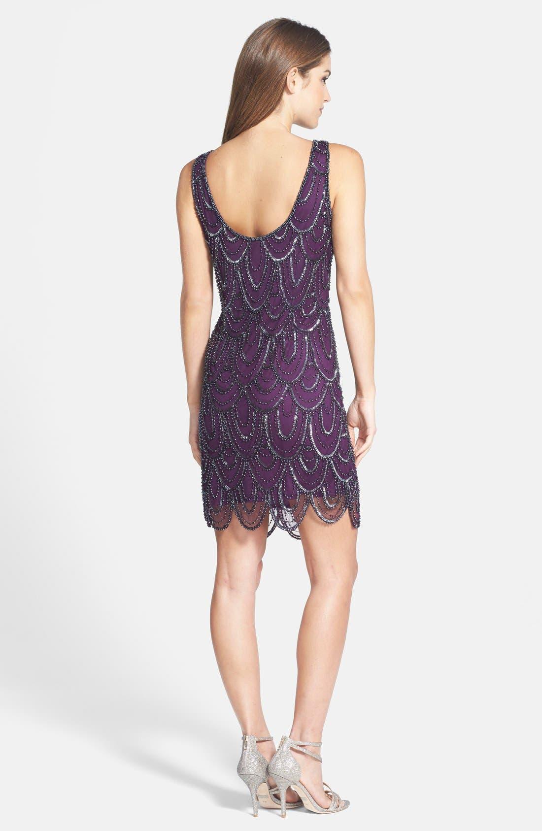 Embellished Mesh Sheath Dress,                             Alternate thumbnail 111, color,