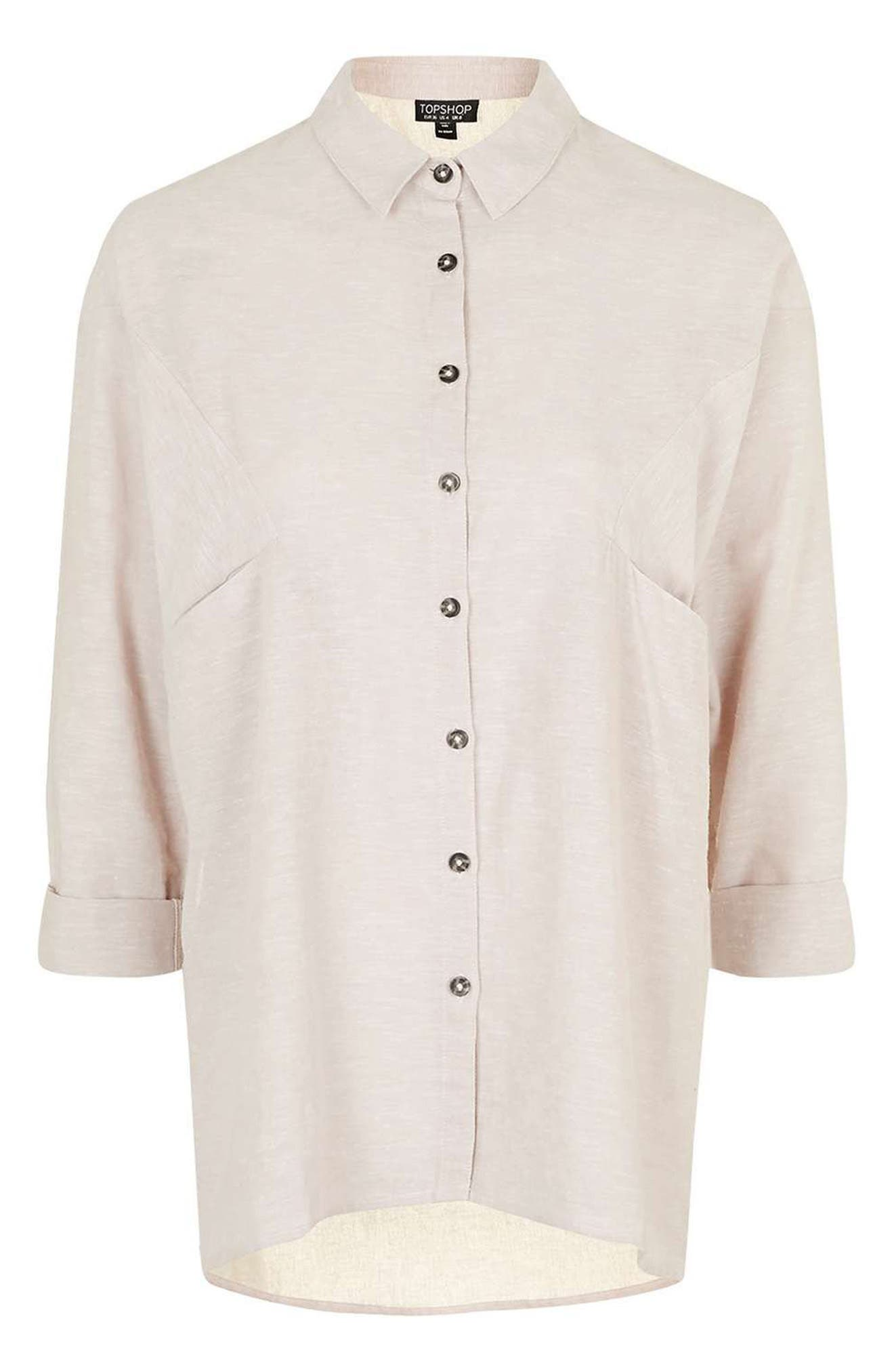 'Ivy' Oversize Chambray Shirt,                             Alternate thumbnail 5, color,                             680