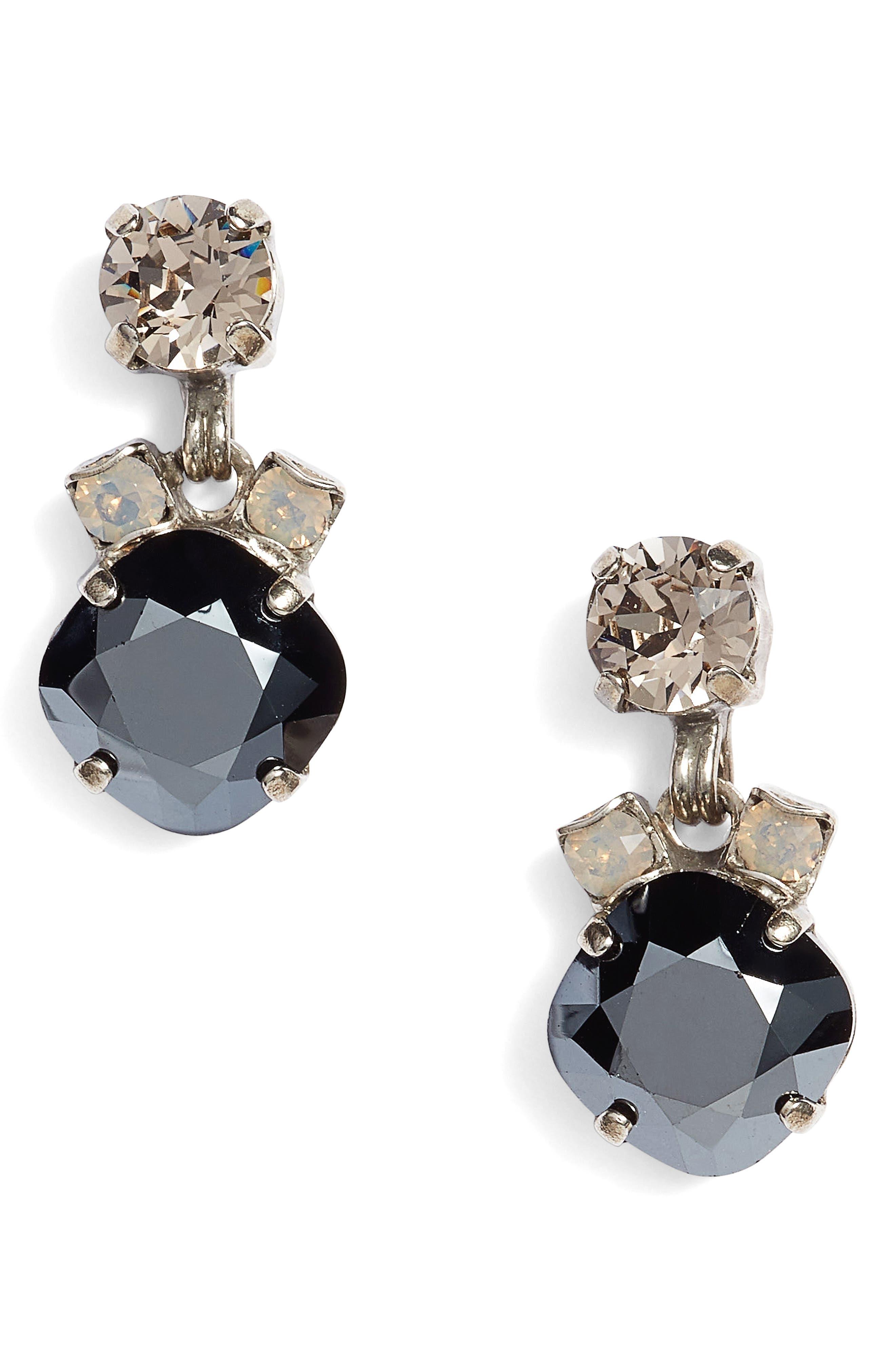 Balsam Crystal Drop Earrings,                             Main thumbnail 1, color,                             001
