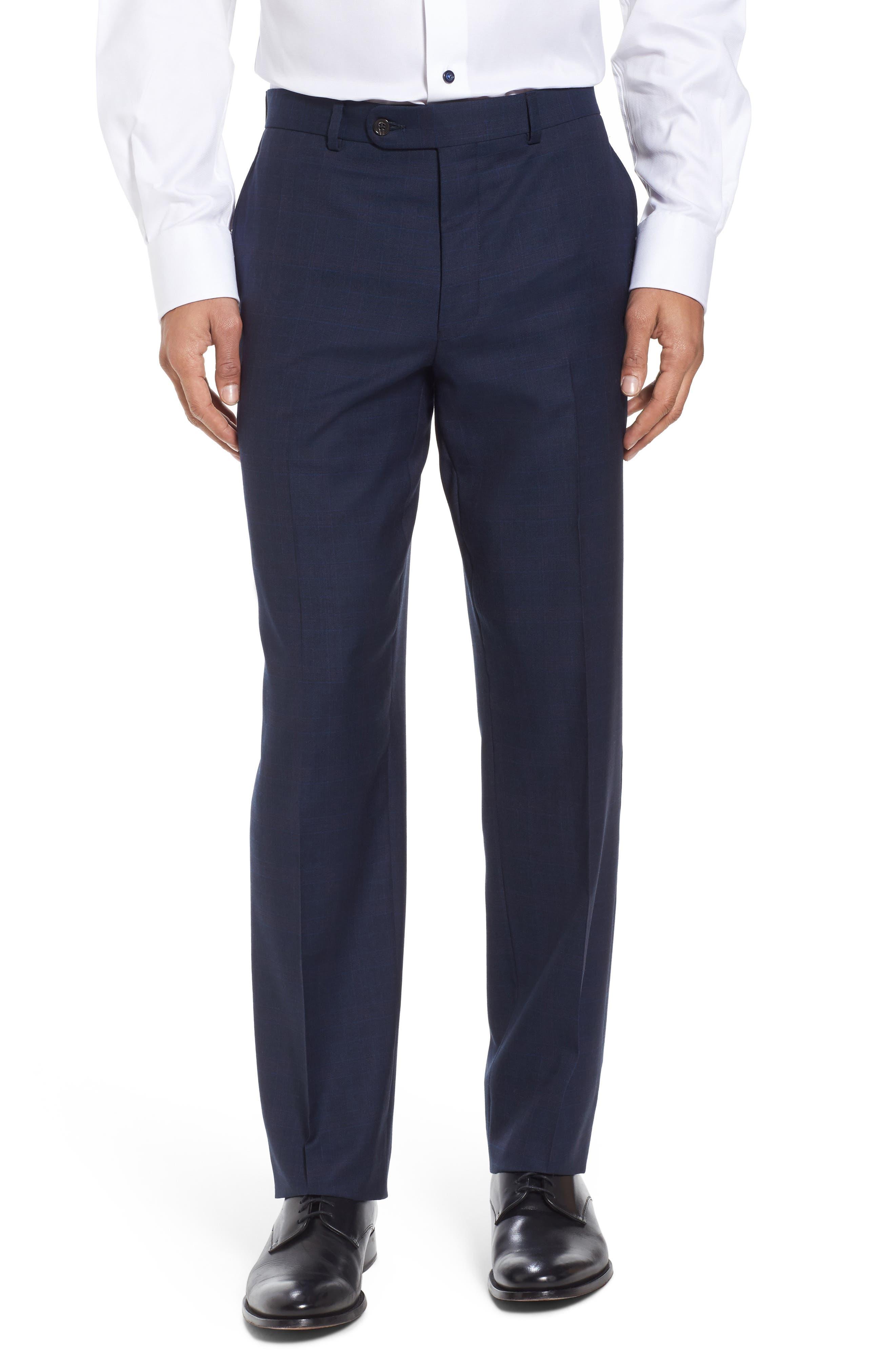 Ryan Classic Fit Plaid Wool Suit,                             Alternate thumbnail 6, color,                             410