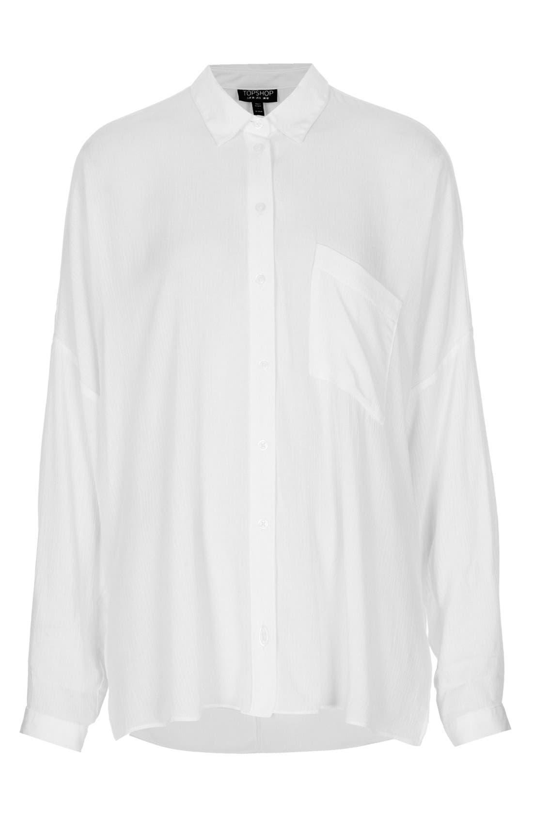 Oversized Crinkle Shirt,                             Alternate thumbnail 2, color,                             100