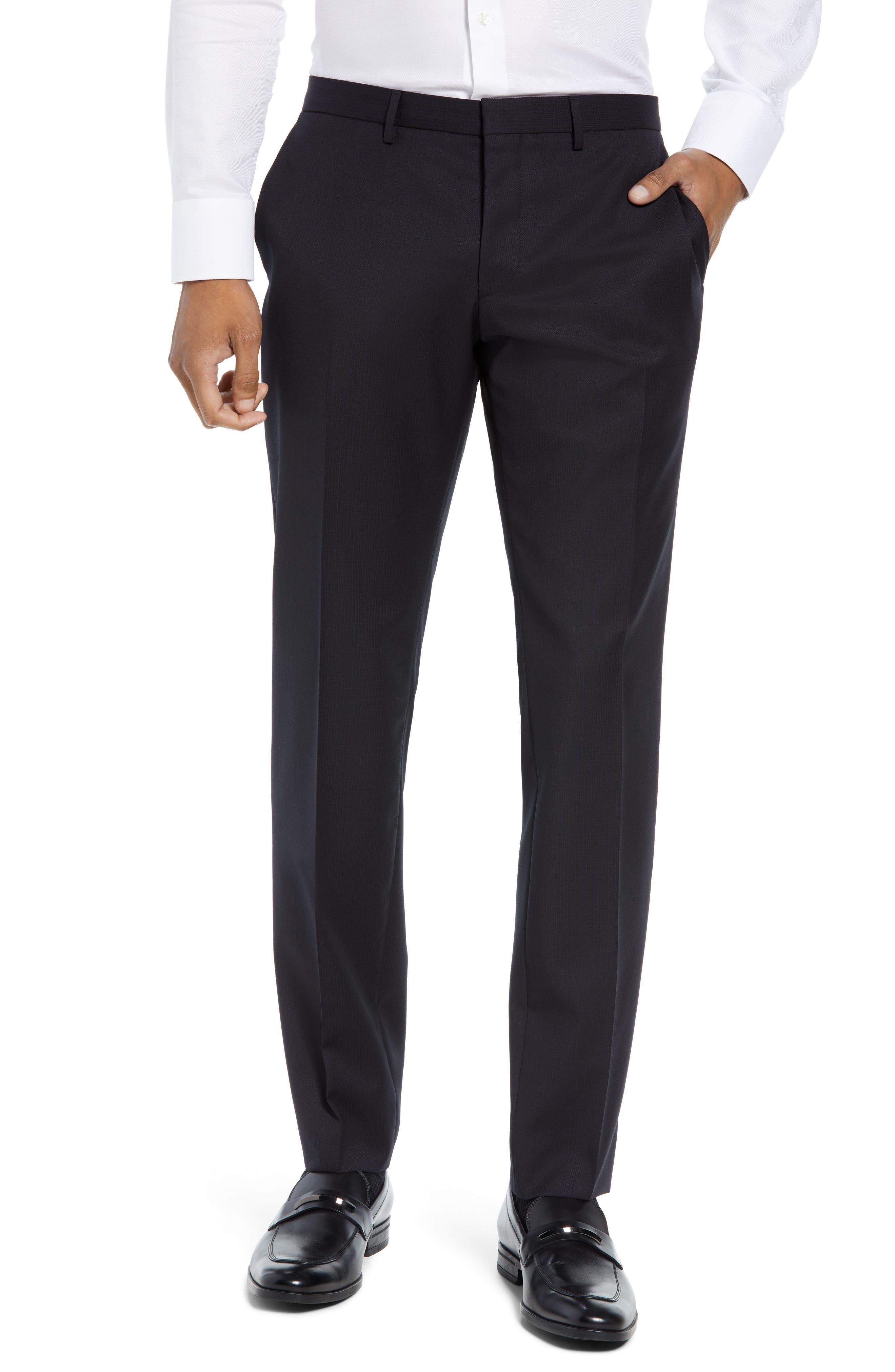 Reymond/Wenten Extra Trim Fit Solid Wool Suit,                             Alternate thumbnail 6, color,                             DARK PURPLE