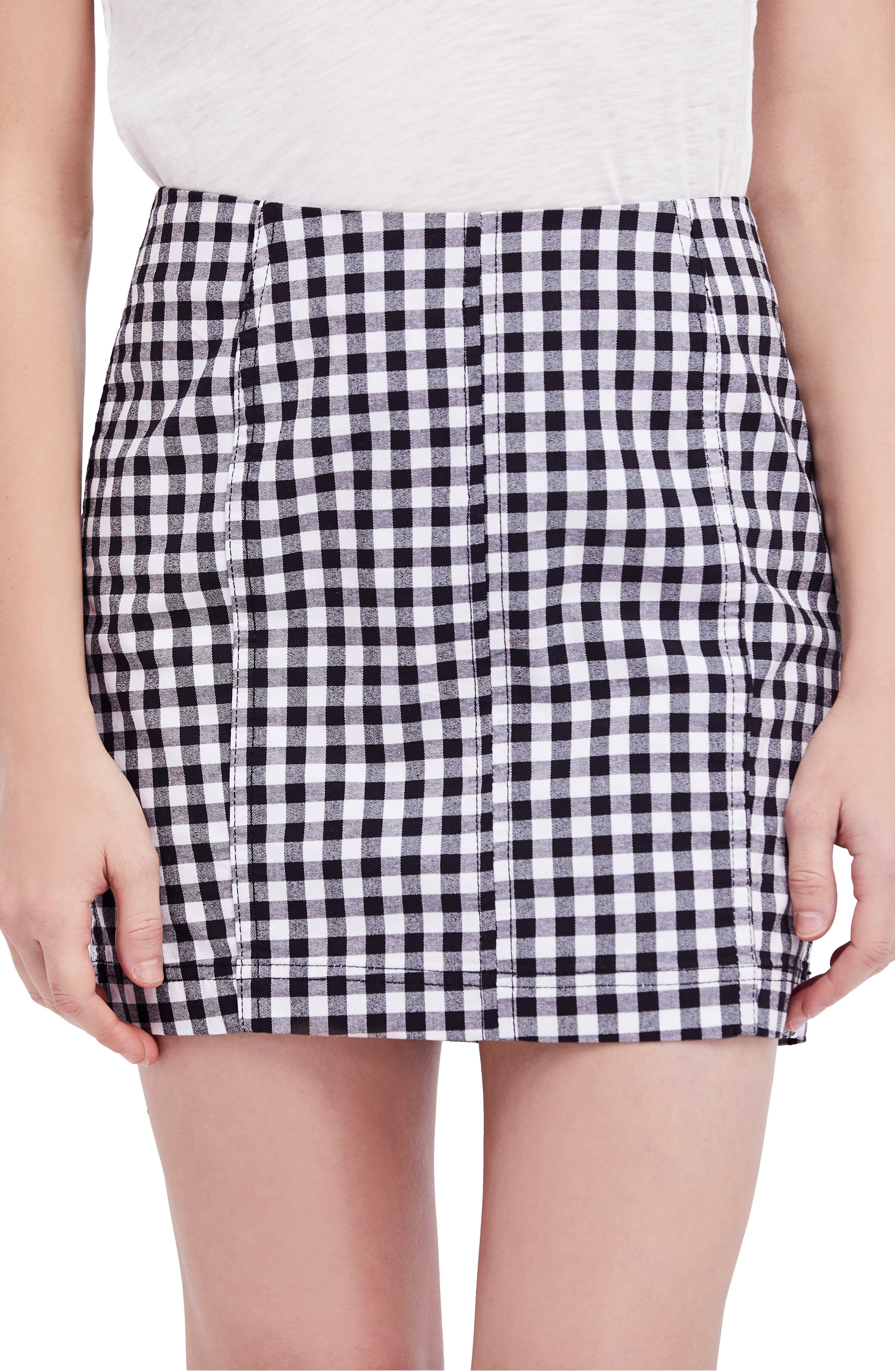 We the Free by Free People Modern Femme Miniskirt,                             Main thumbnail 1, color,                             MULTI