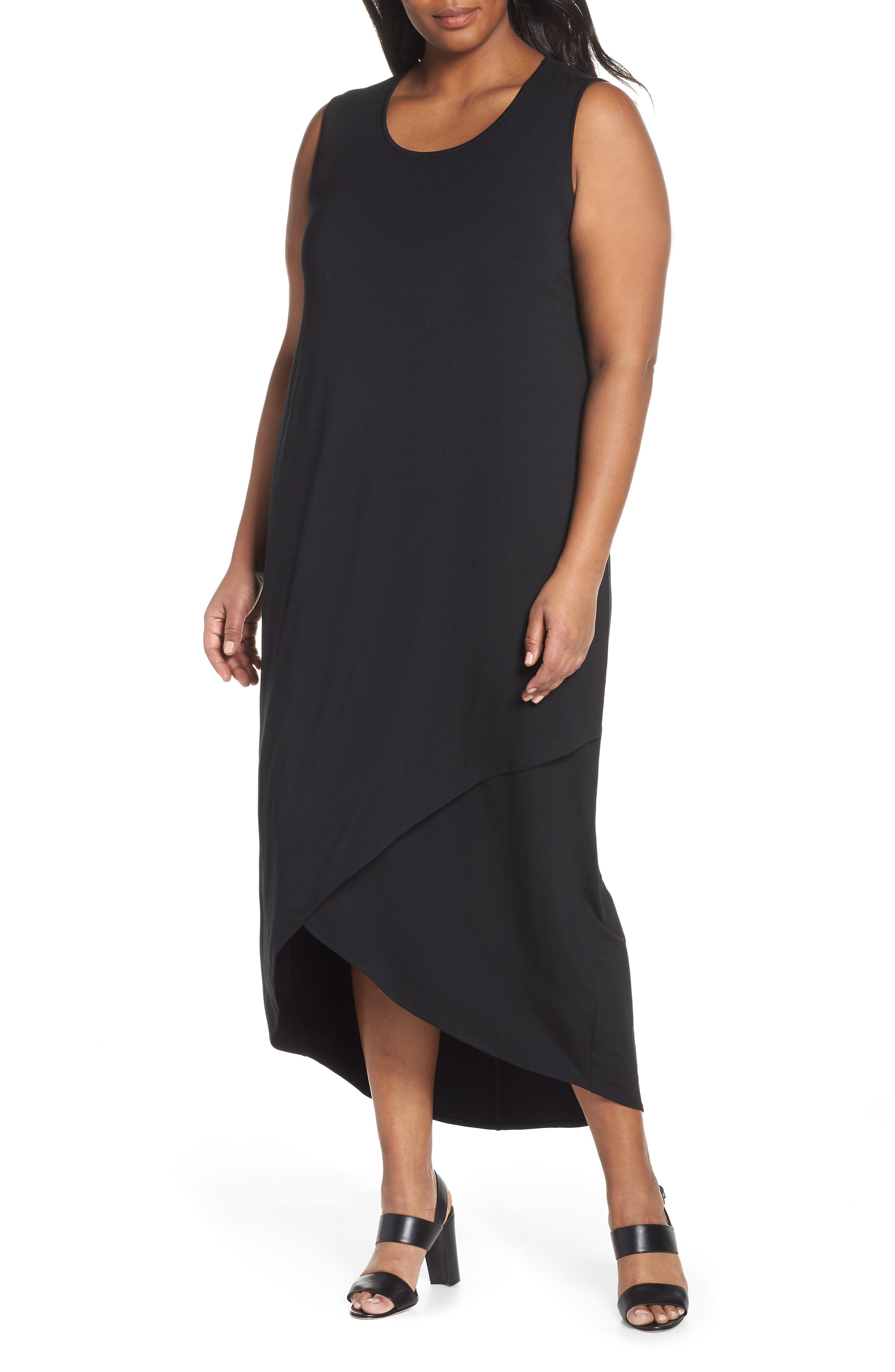 Ease Maxi Dress, Main, color, BLACK ONYX