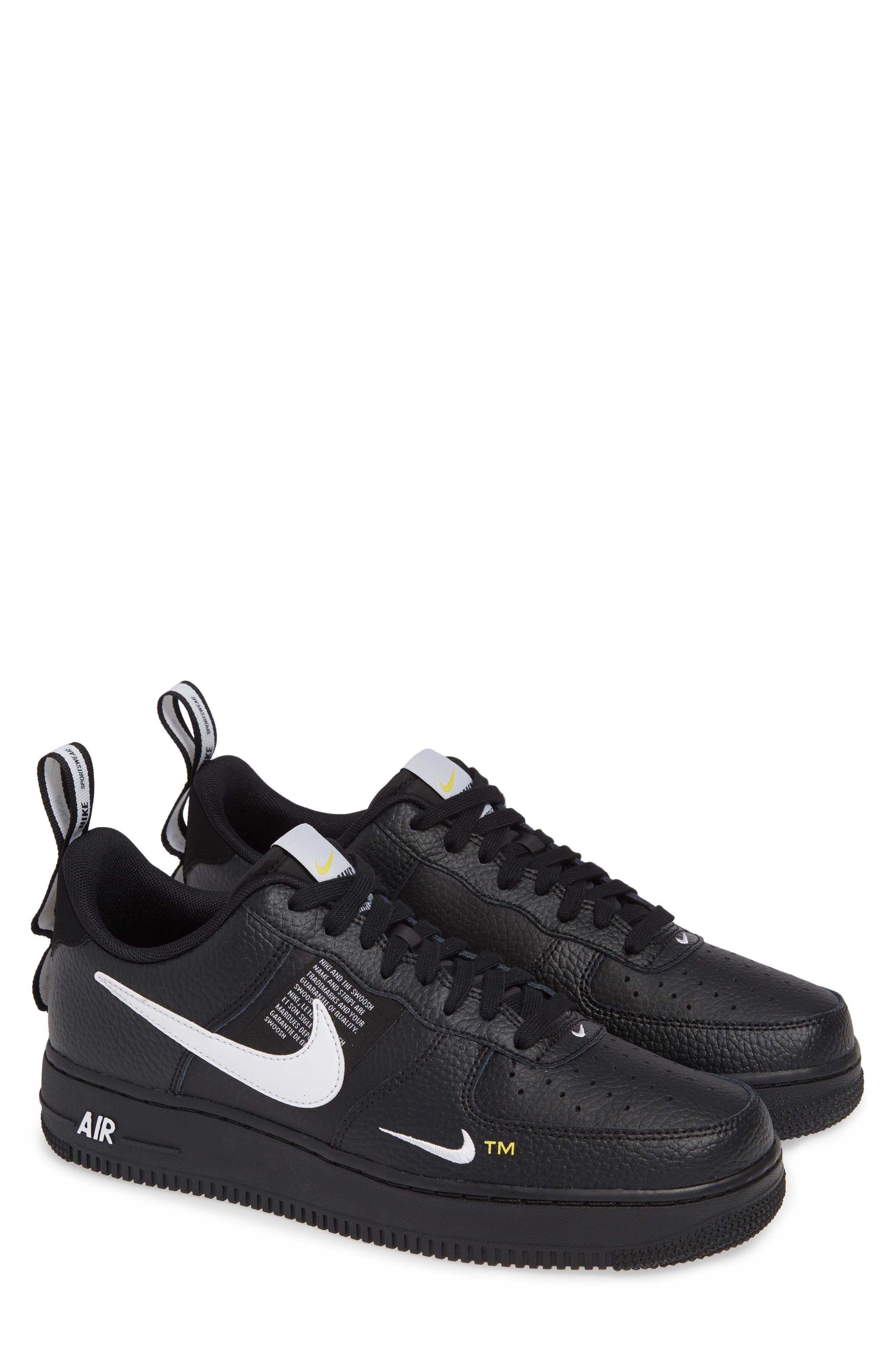 Air Force 1 '07 LV8 Utility Sneaker,                             Alternate thumbnail 2, color,                             BLACK/ WHITE/ TOUR YELLOW