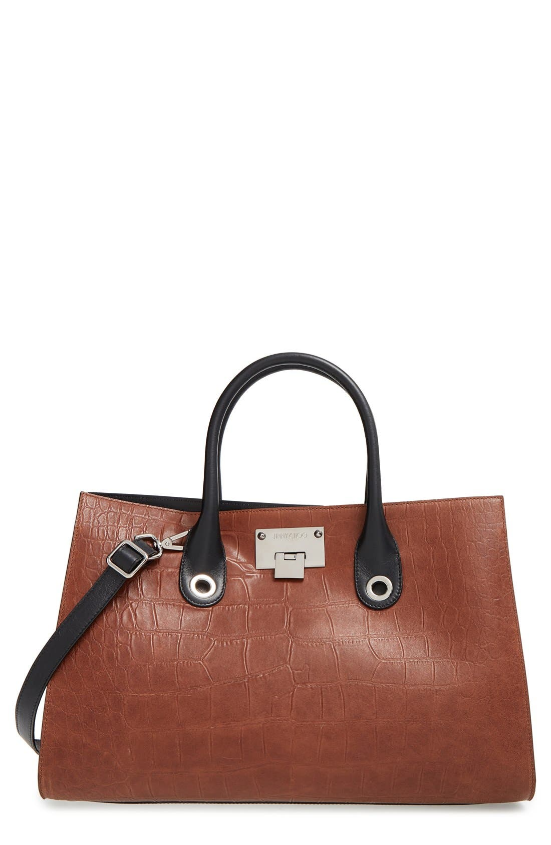 'Riley' Leather Tote,                             Main thumbnail 2, color,