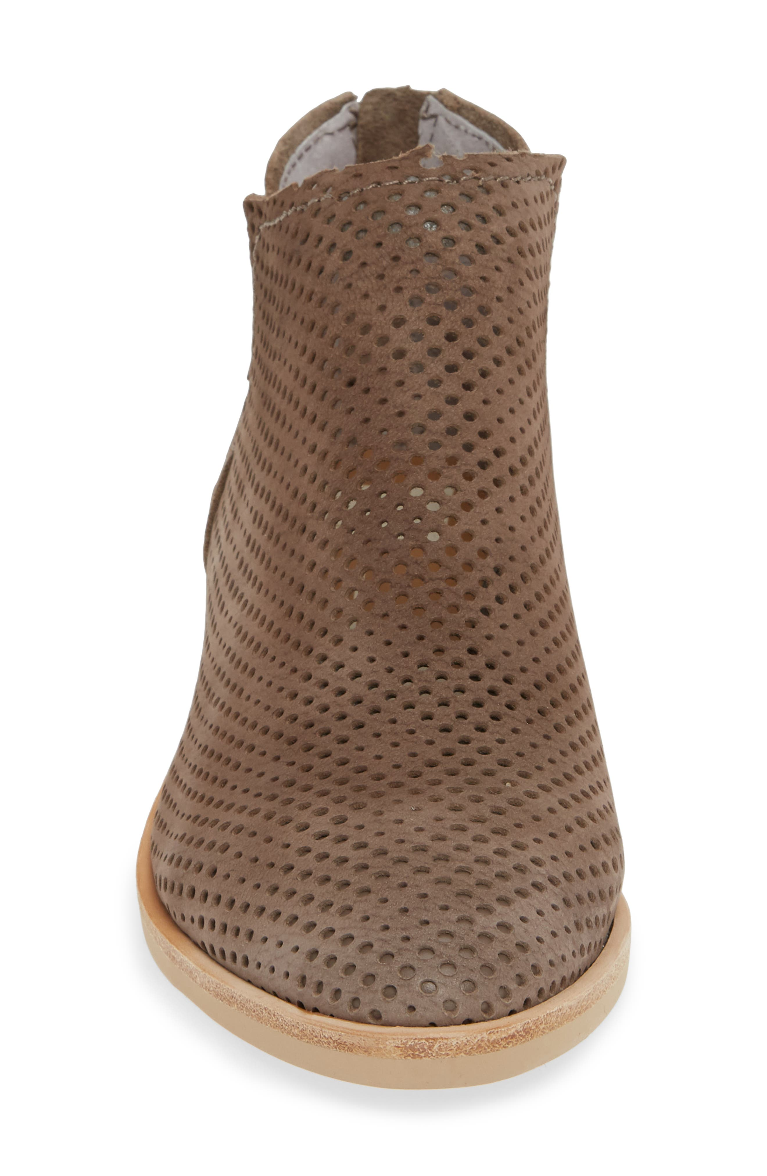 DOLCE VITA,                             Tauris Perforated Bootie,                             Alternate thumbnail 4, color,                             SMOKE