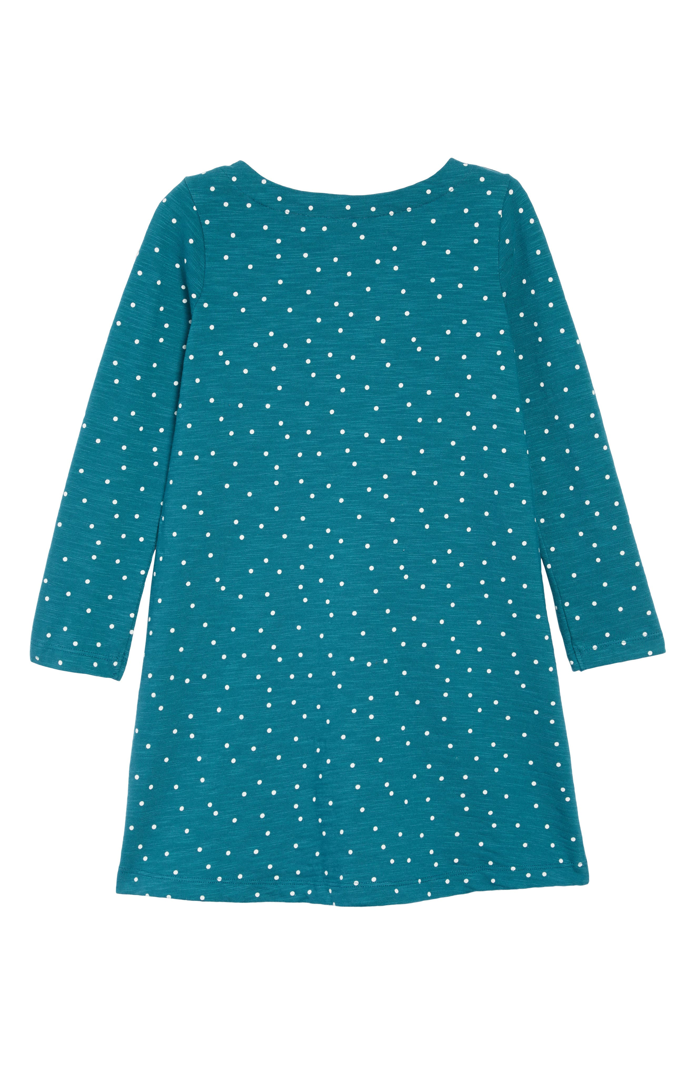 Mini Boden Spotty Animal Appliqué Dress,                             Alternate thumbnail 2, color,                             DGR DRAKE GREEN PENGUIN
