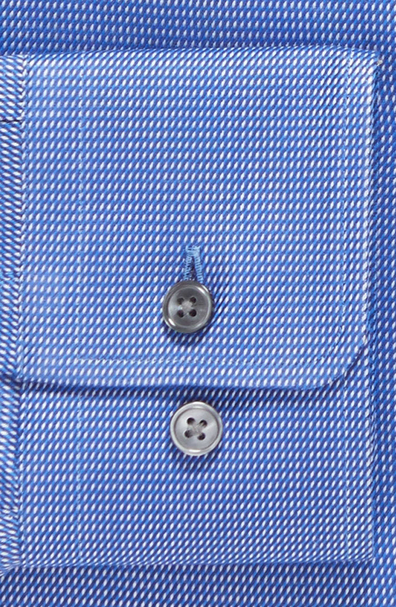 Sharp Fit Solid Dress Shirt,                             Alternate thumbnail 5, color,