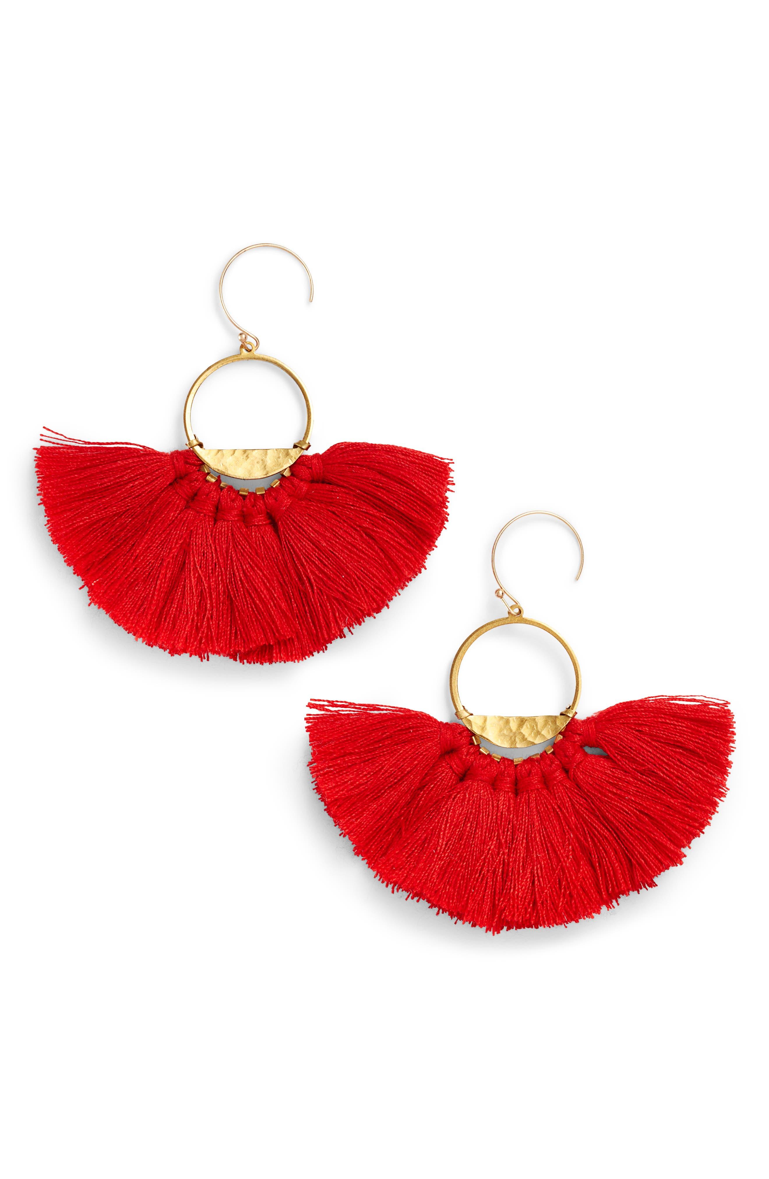 Flutter Tassel Earrings,                             Main thumbnail 4, color,