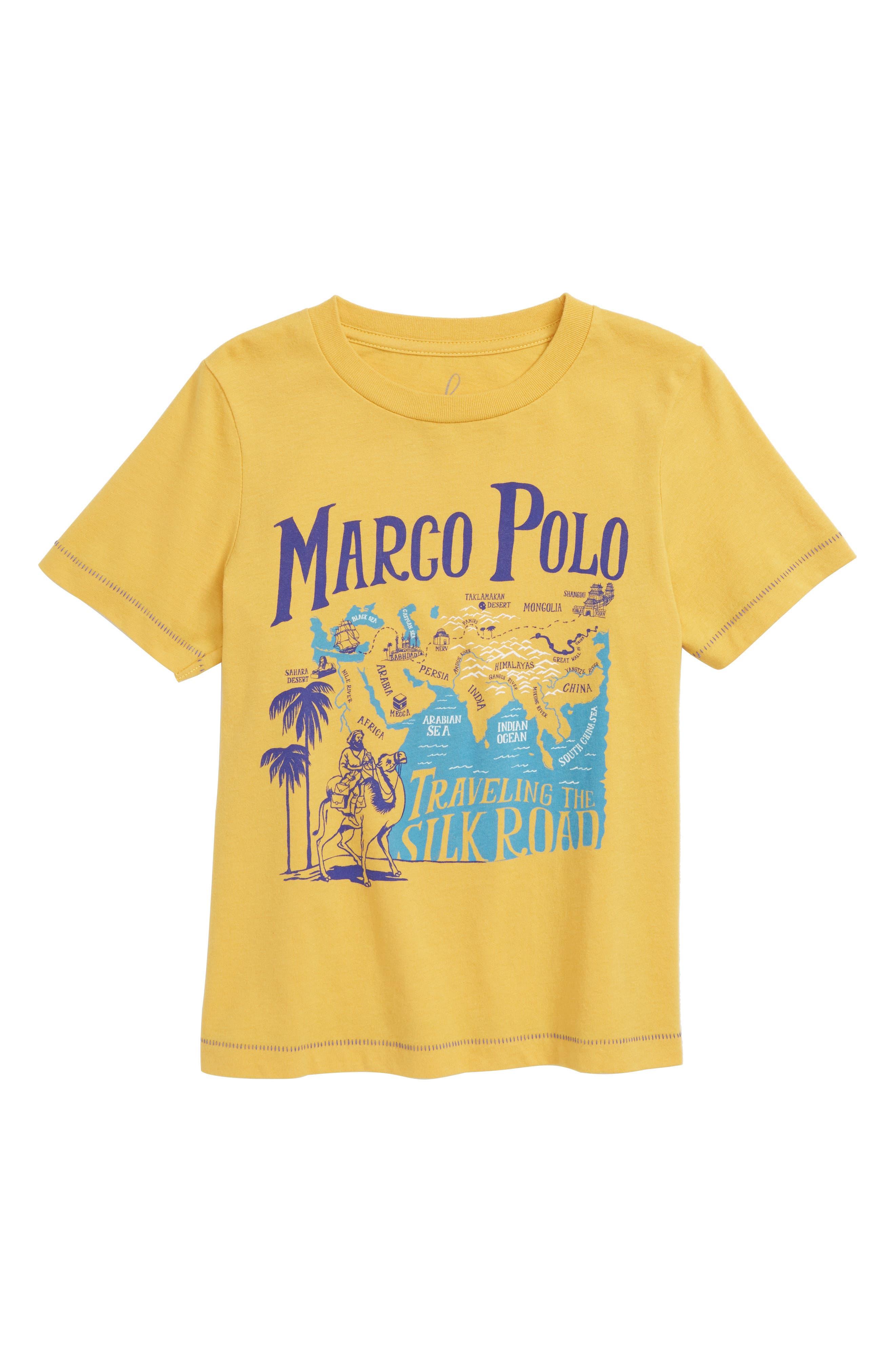 Silk Road T-Shirt,                         Main,                         color, MUSTARD