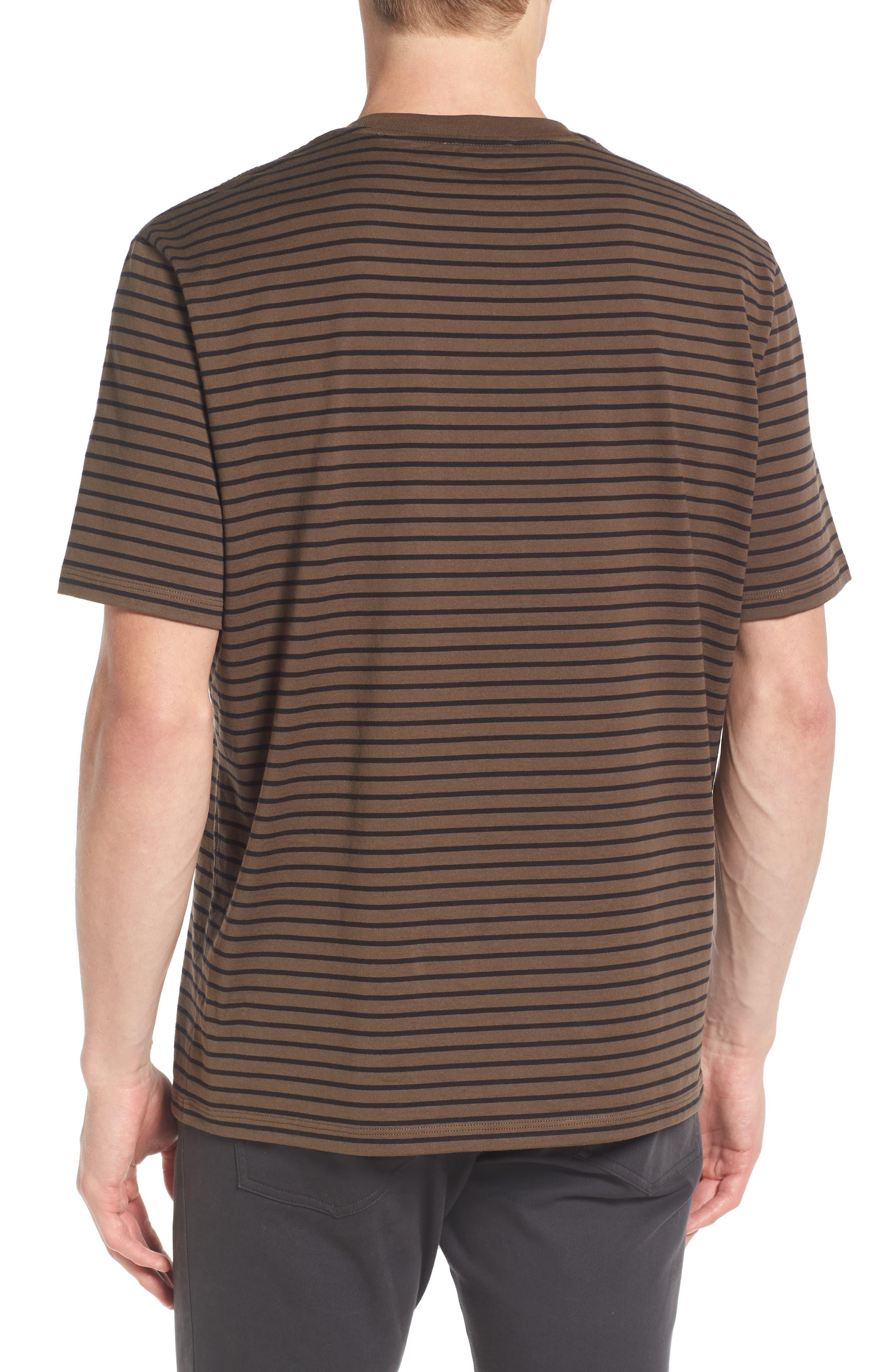 Narrow Stripe Pima Cotton T-Shirt,                             Alternate thumbnail 3, color,