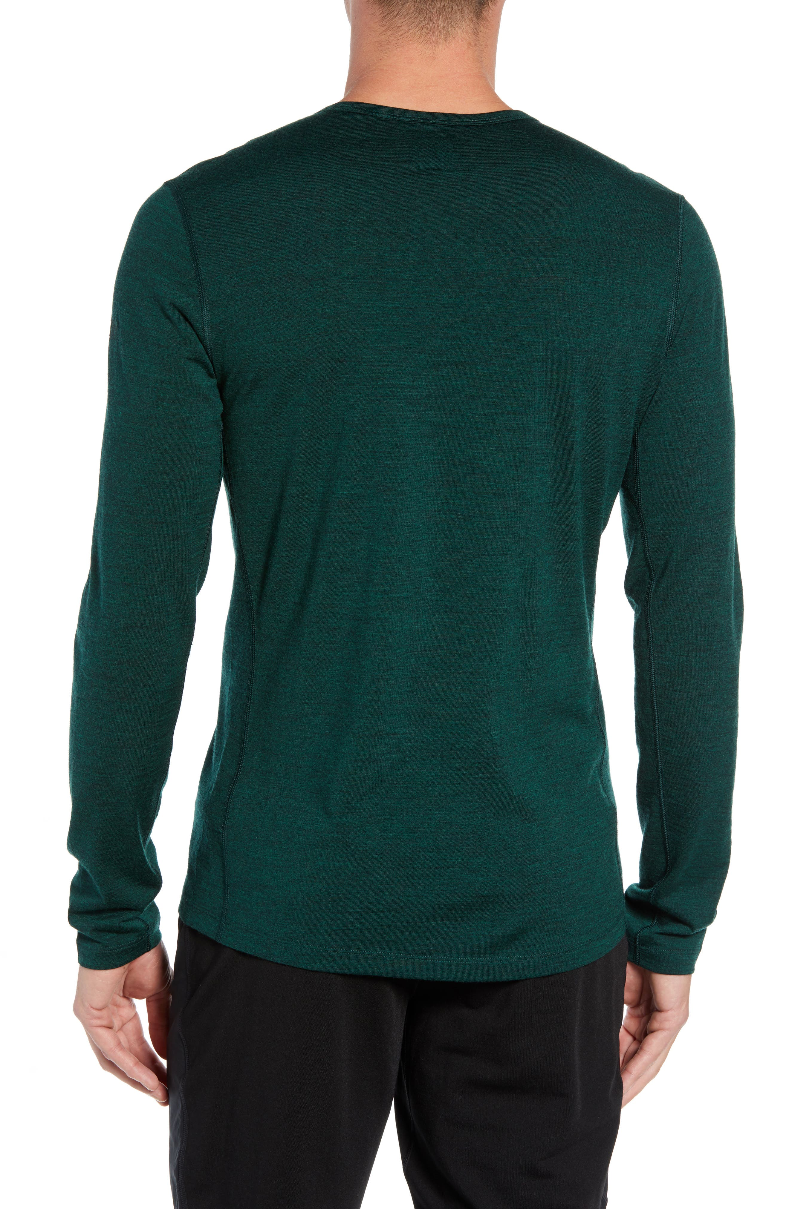 Oasis Slim Merino Wool T-Shirt,                             Alternate thumbnail 2, color,                             IMPERIAL HEATHER