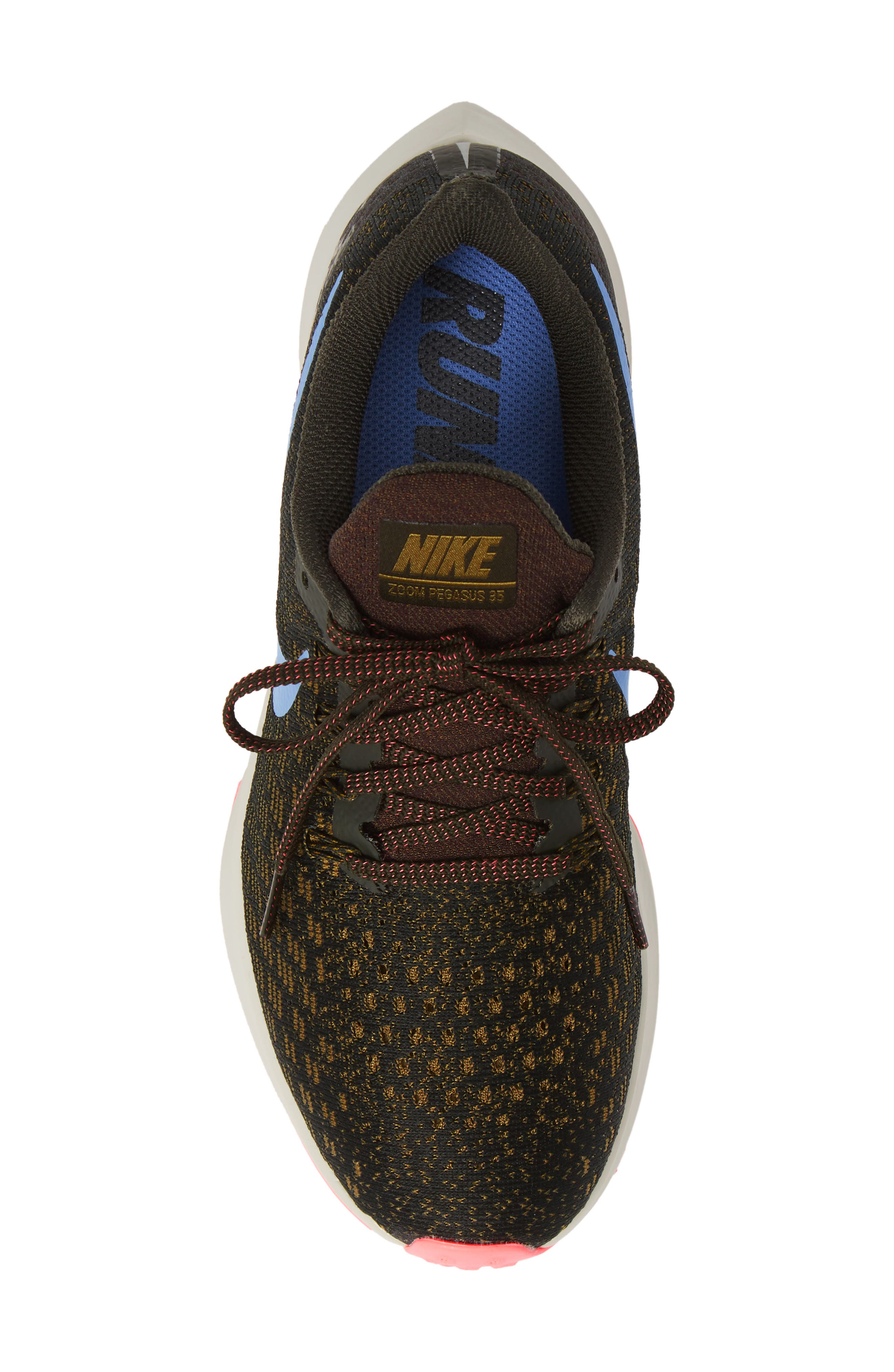 Air Zoom Pegasus 35 Running Shoe,                             Alternate thumbnail 5, color,                             SEQUOIA/ ROYAL PULSE-OLIVE