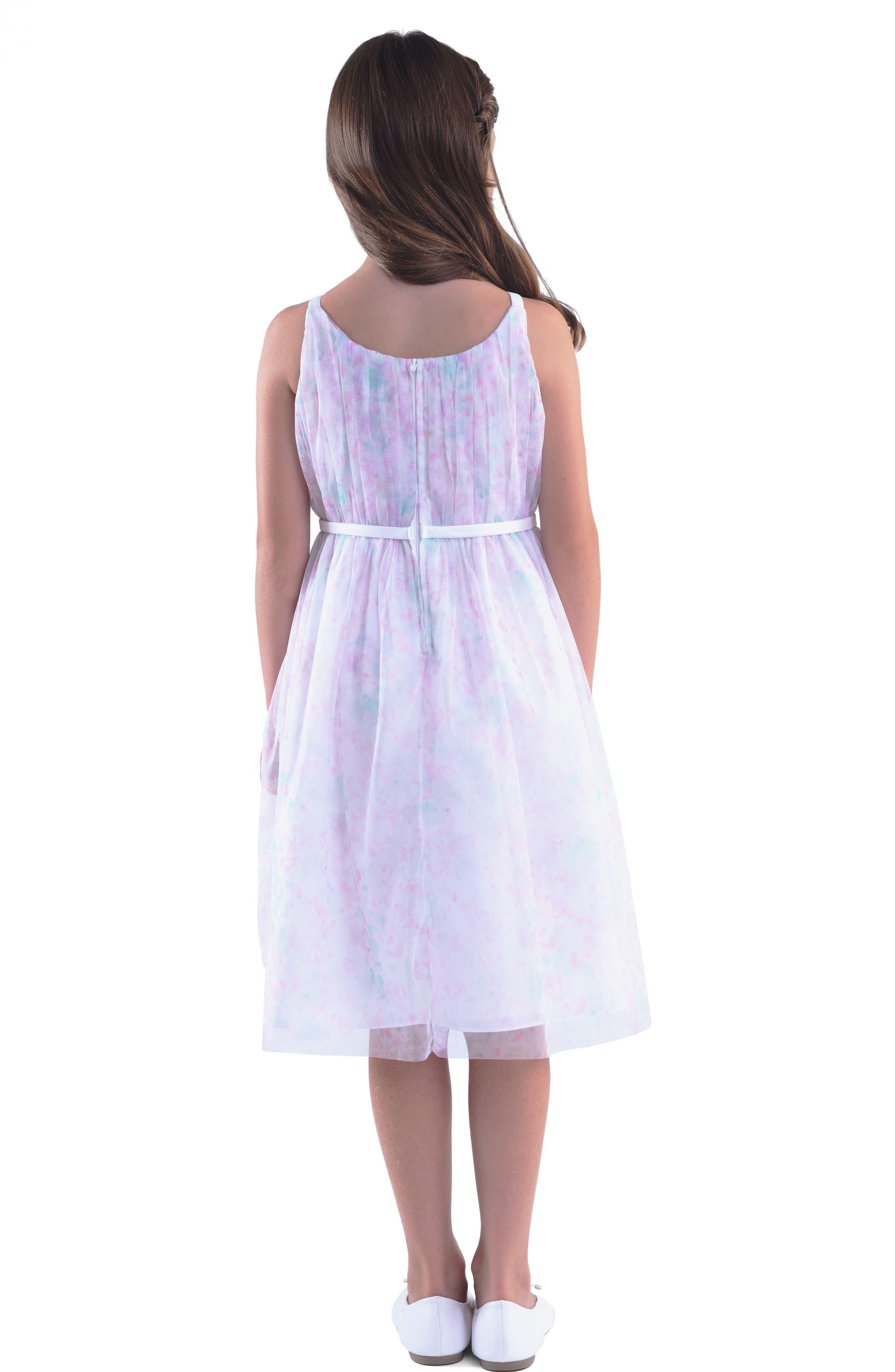 Floral Print Sleeveless Dress,                             Alternate thumbnail 2, color,                             650