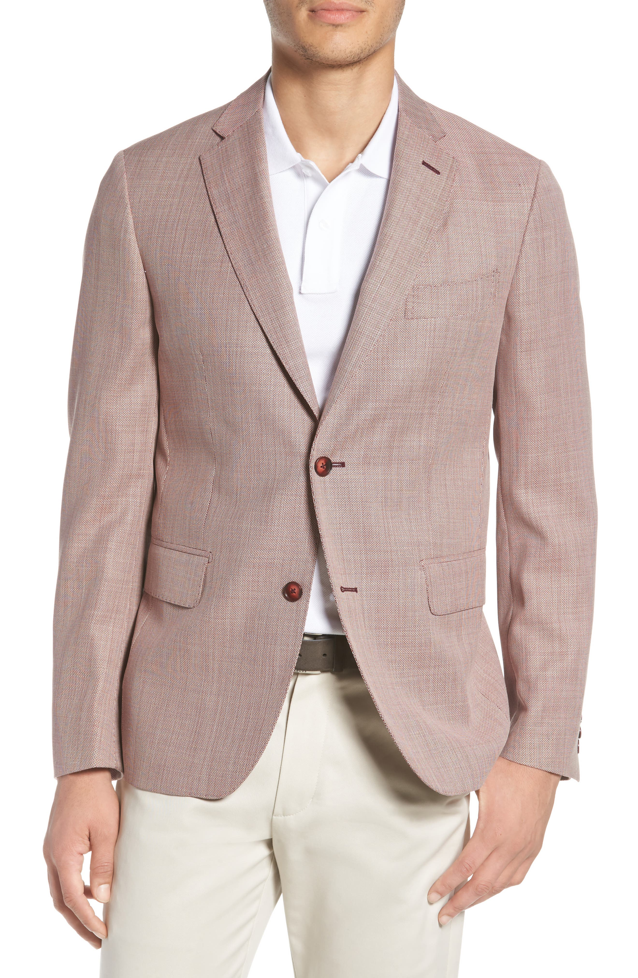 Traditional Fit Wool Sport Coat,                         Main,                         color, 610